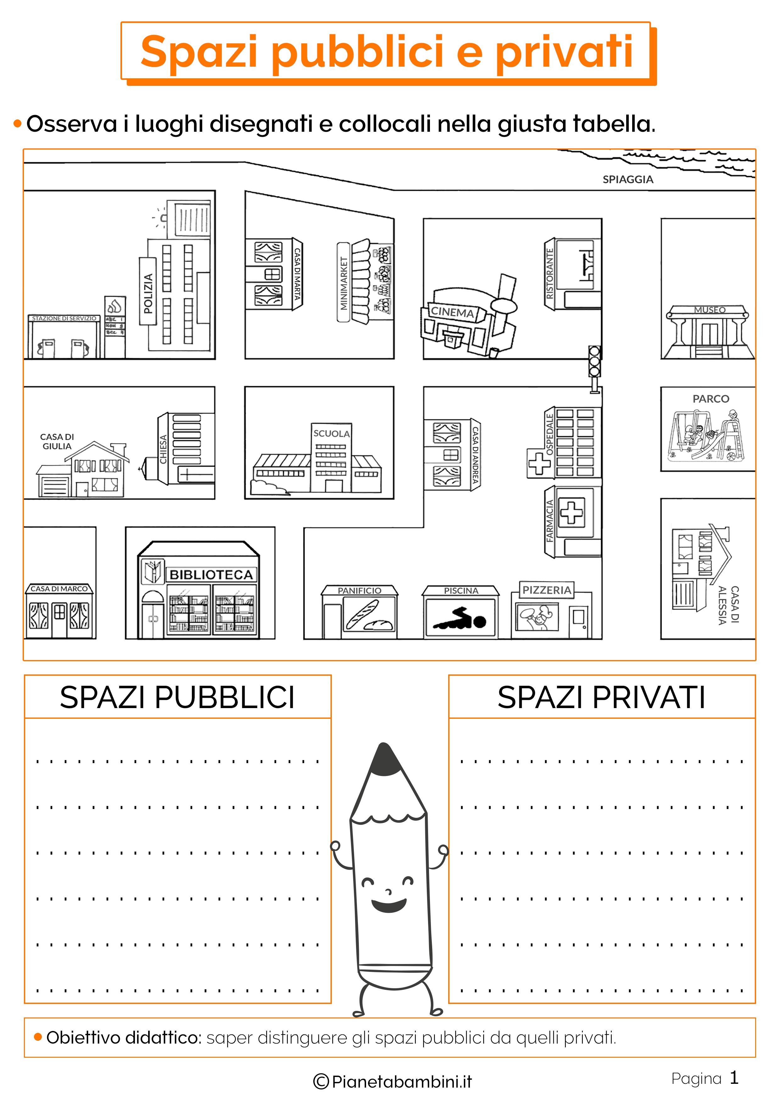 Esercizi su spazi pubblici e privati 1