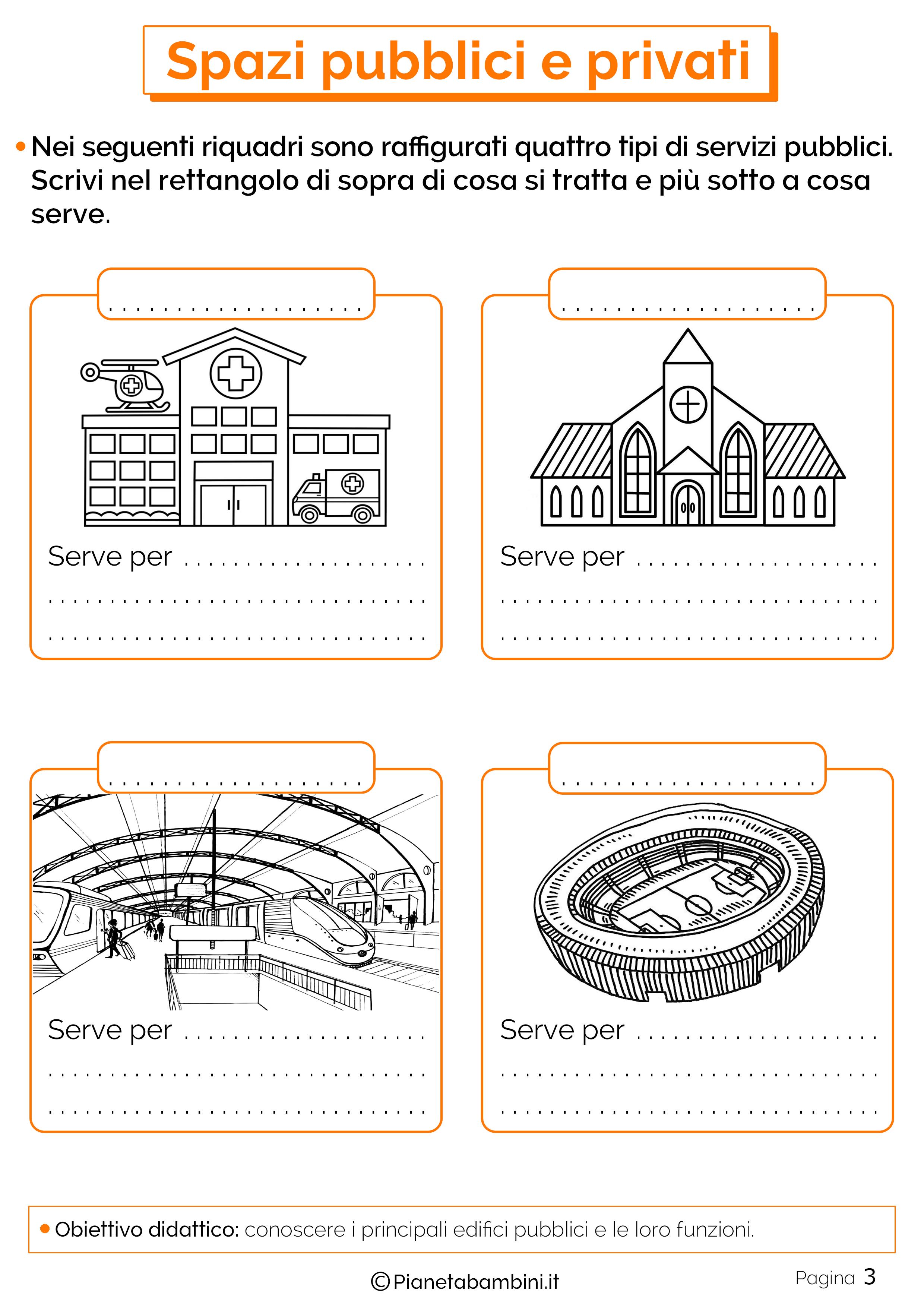 Esercizi su spazi pubblici e privati 3