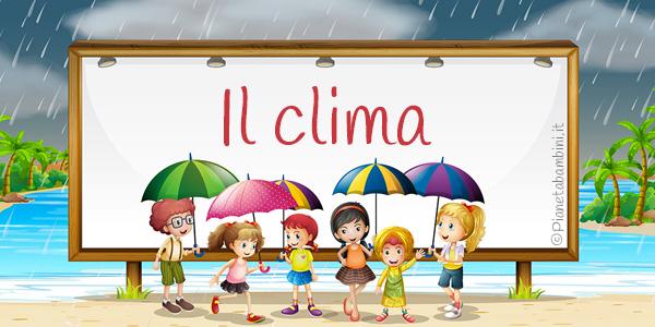 Esercizi sul clima per la quarta classe della scuola primaria