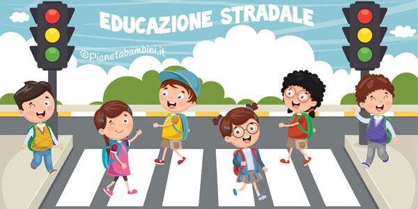 Esercizi di educazione stradale per bambini