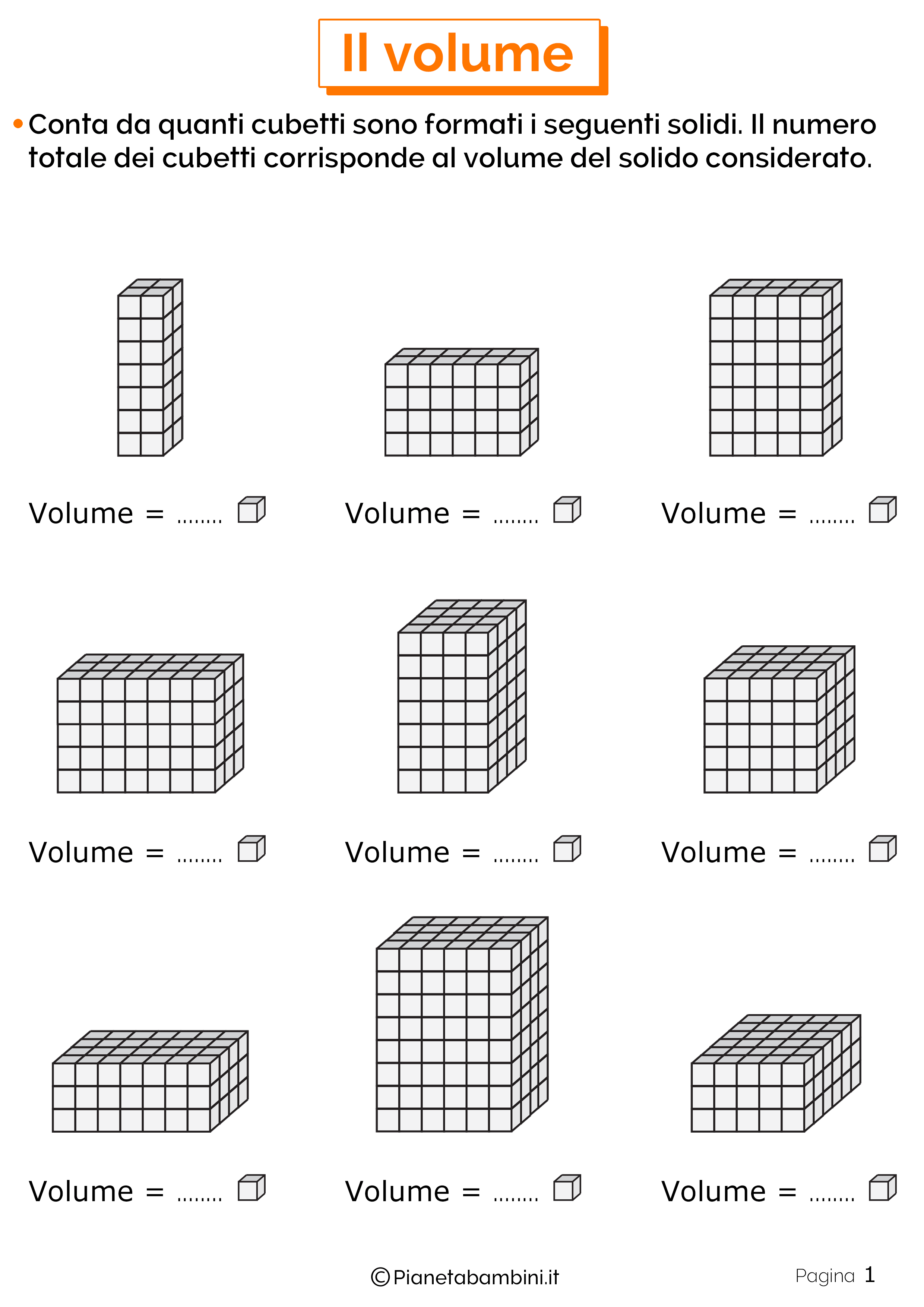 Schede didattiche sul volume 1