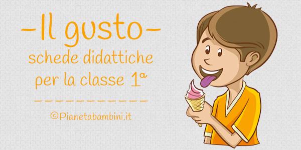 Esercizi sul senso del gusto per bambini della prima classe