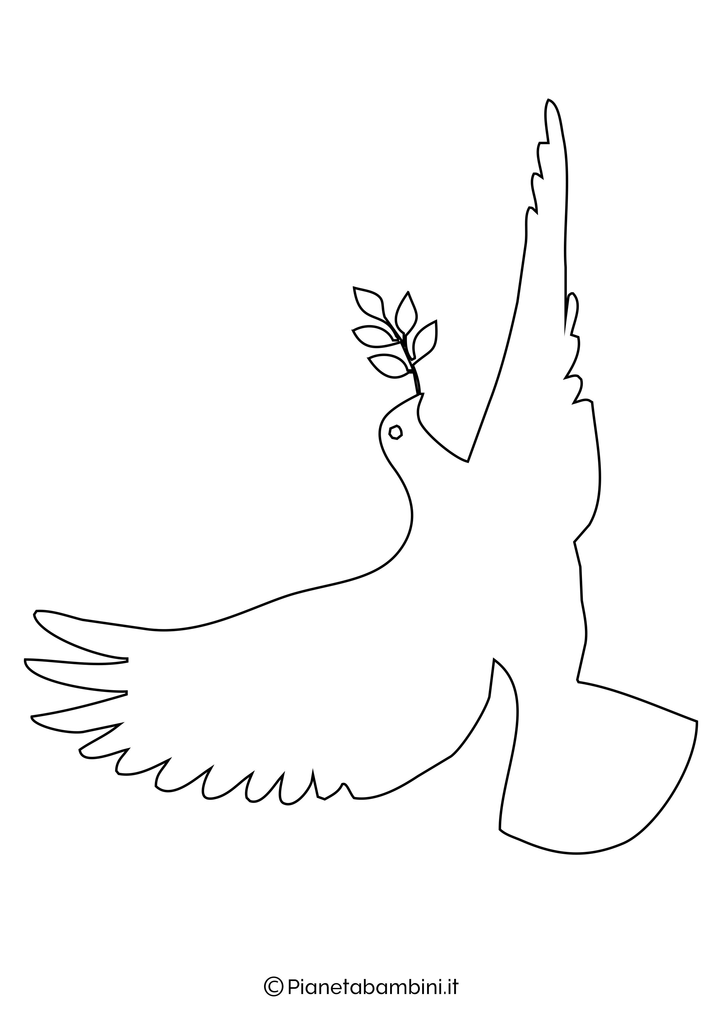 Disegni di colombe grandi 3