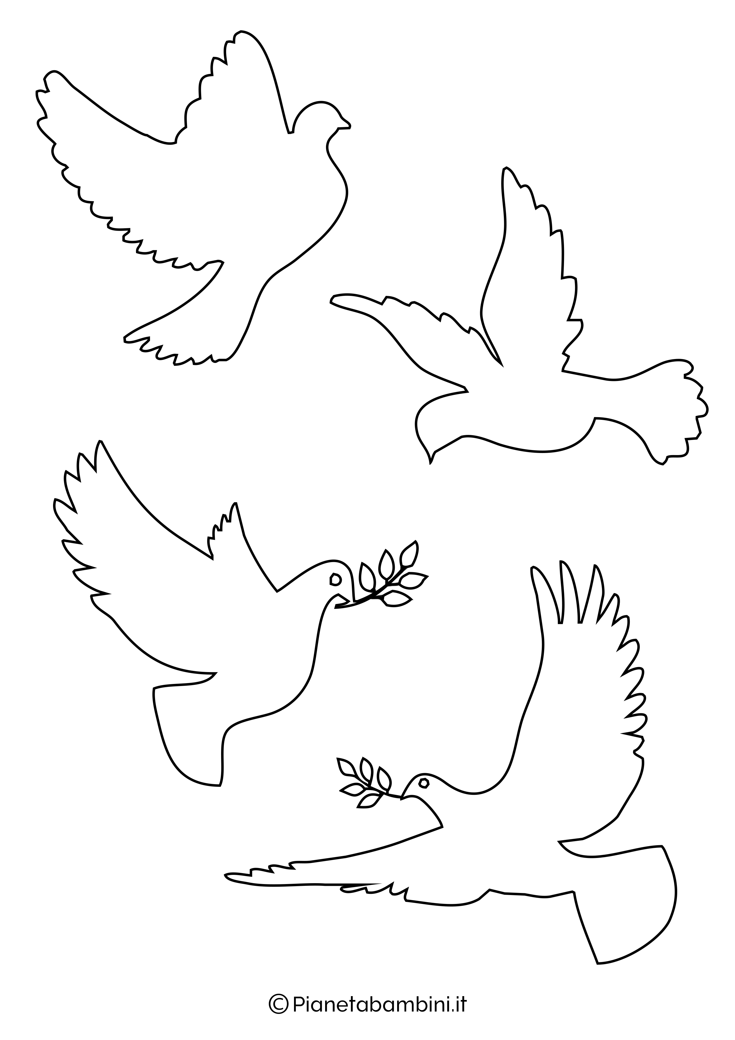 Disegni di colombe piccole
