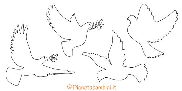 Sagome di colombe pasquale da ritagliare