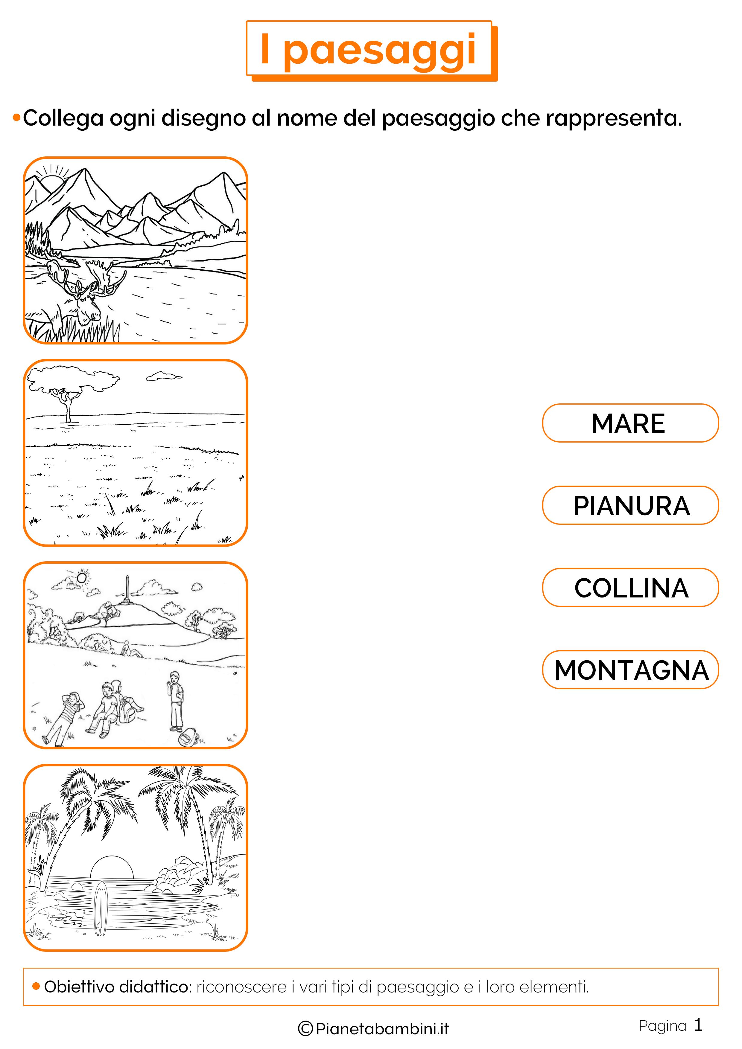 Esercizi sui paesaggi 1