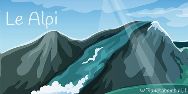 Esercizi sulle Alpi per la quarta classe della scuola primaria