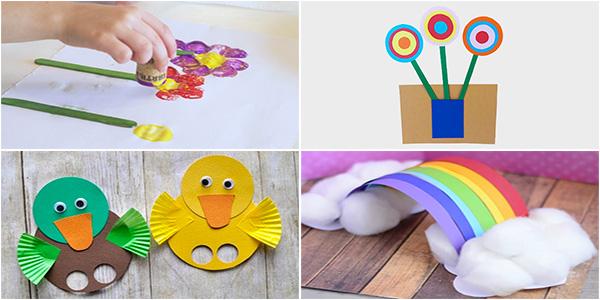 Idee per lavoretti di primavera per bambini della scuola dell'infanzia