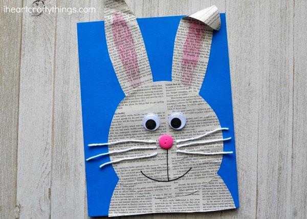 Come creare un coniglietto con ritagli di giornale