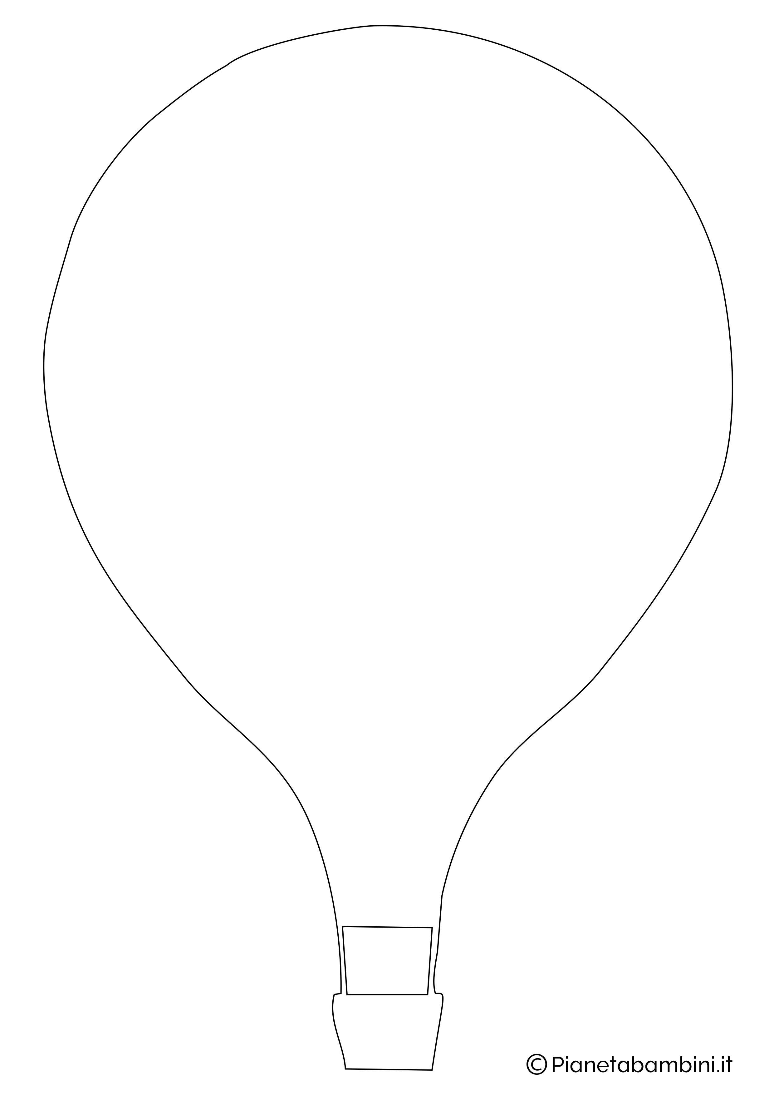 Sagoma di mongolfiera da ritagliare 01