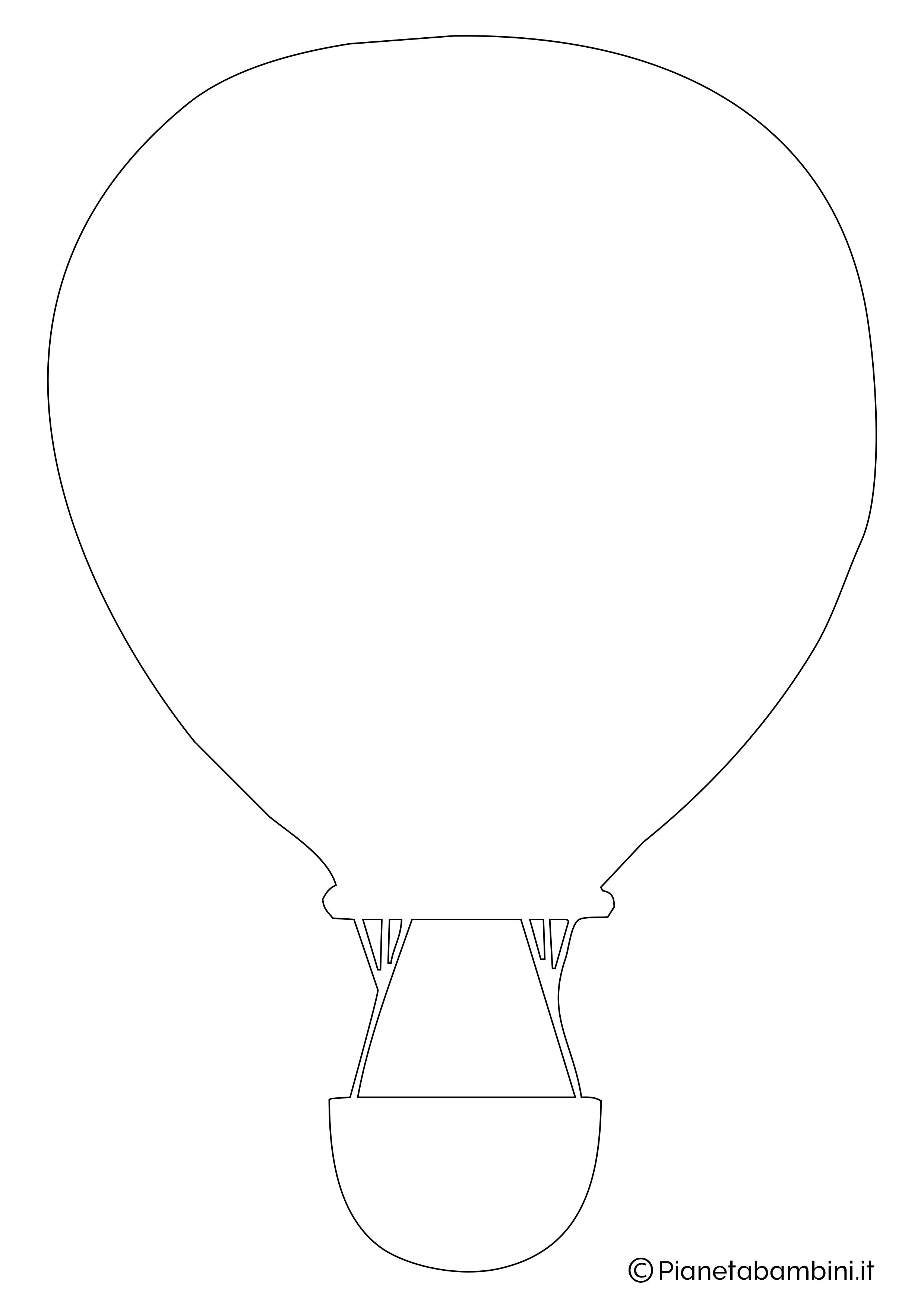 Sagoma di mongolfiera da ritagliare 02
