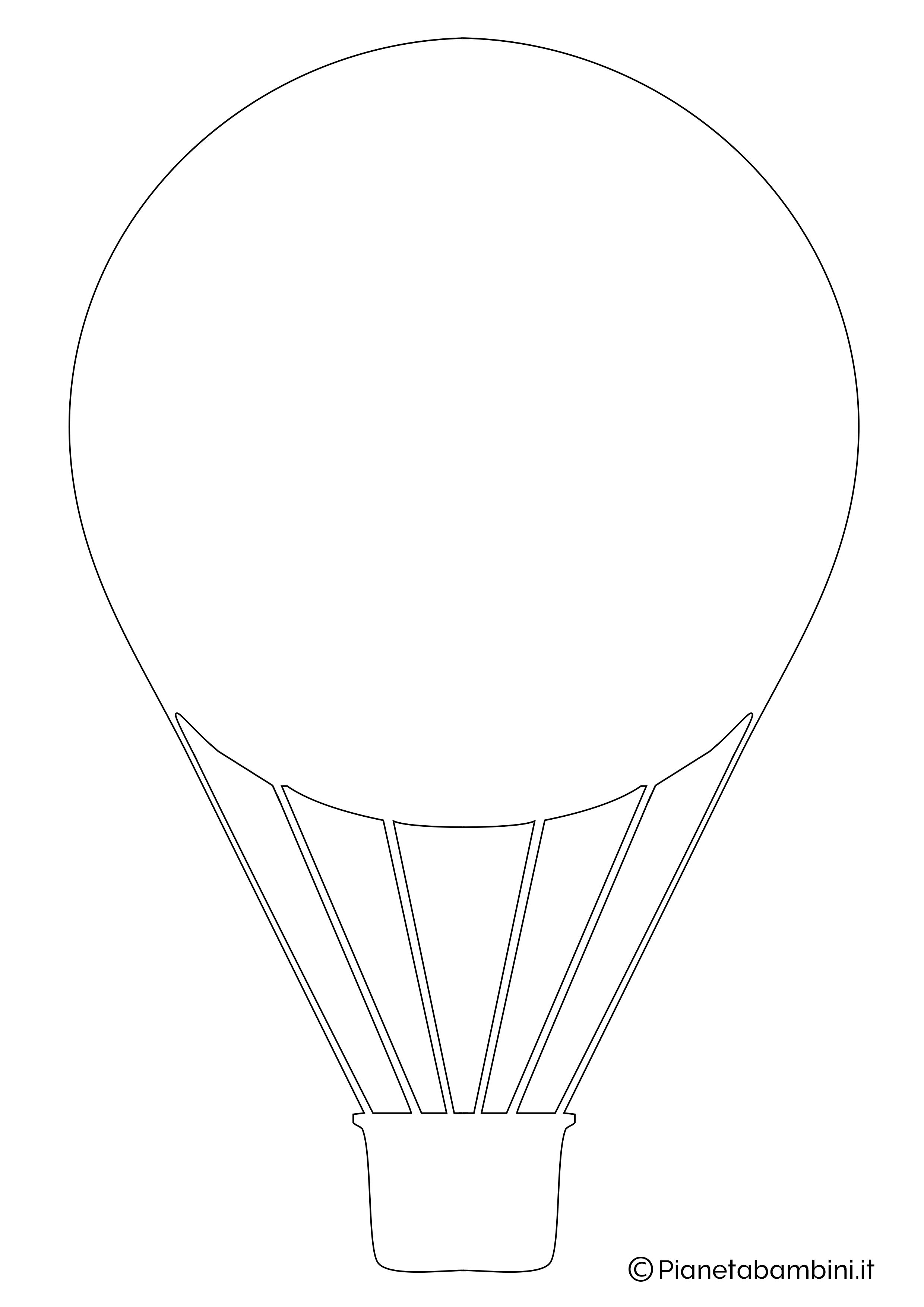 Sagoma di mongolfiera da ritagliare 03