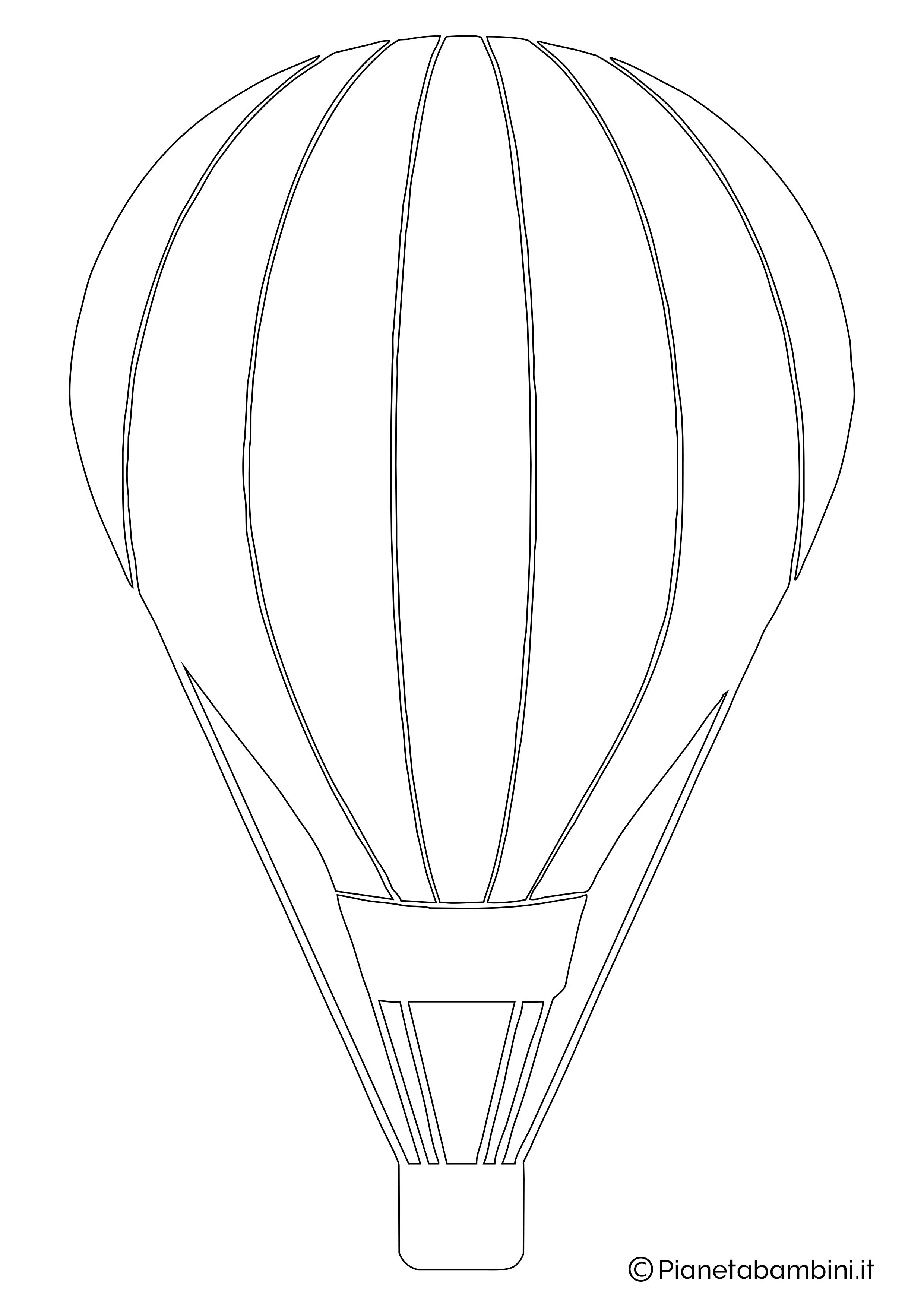 Sagoma di mongolfiera da ritagliare 04
