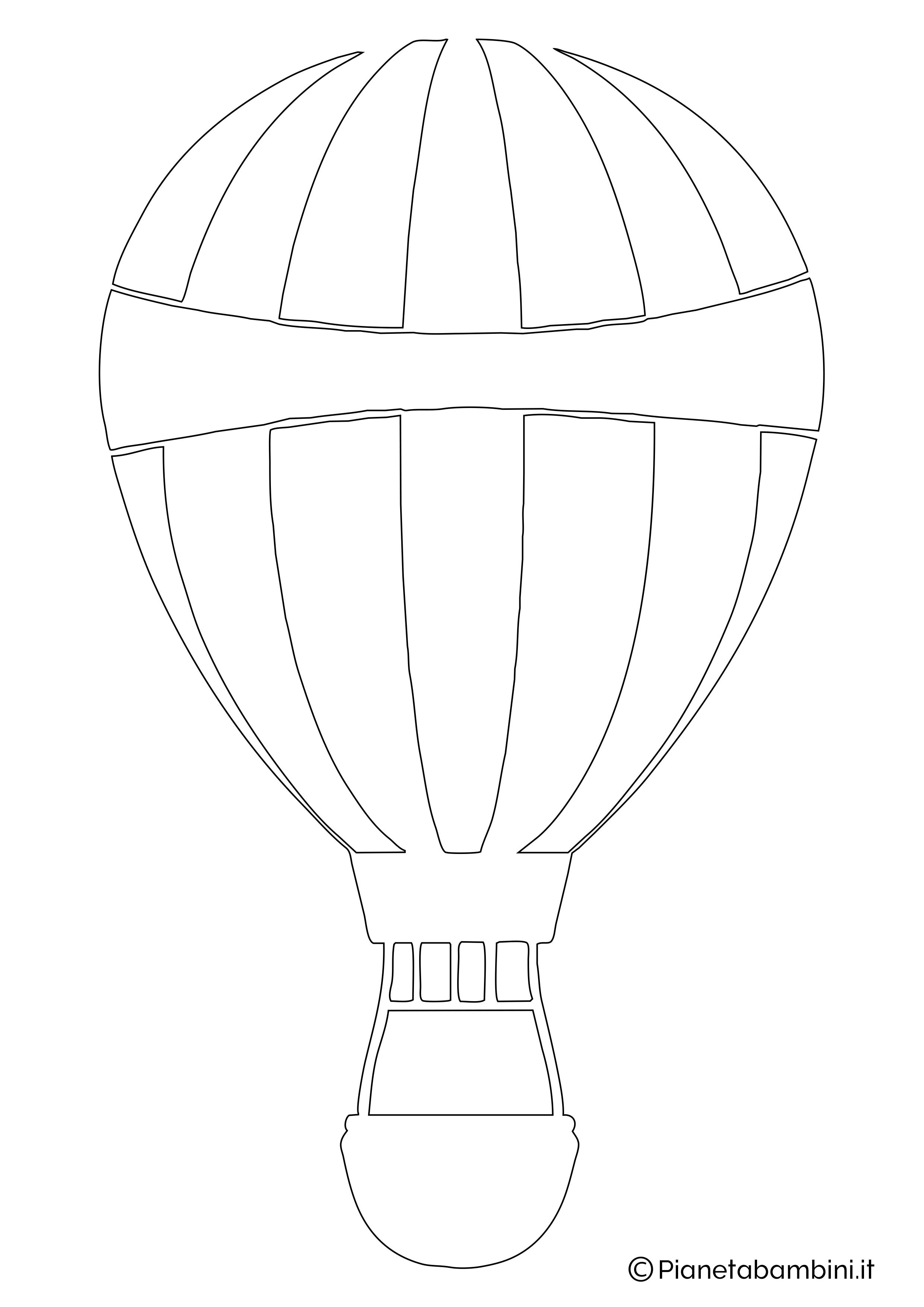 Sagoma di mongolfiera da ritagliare 06