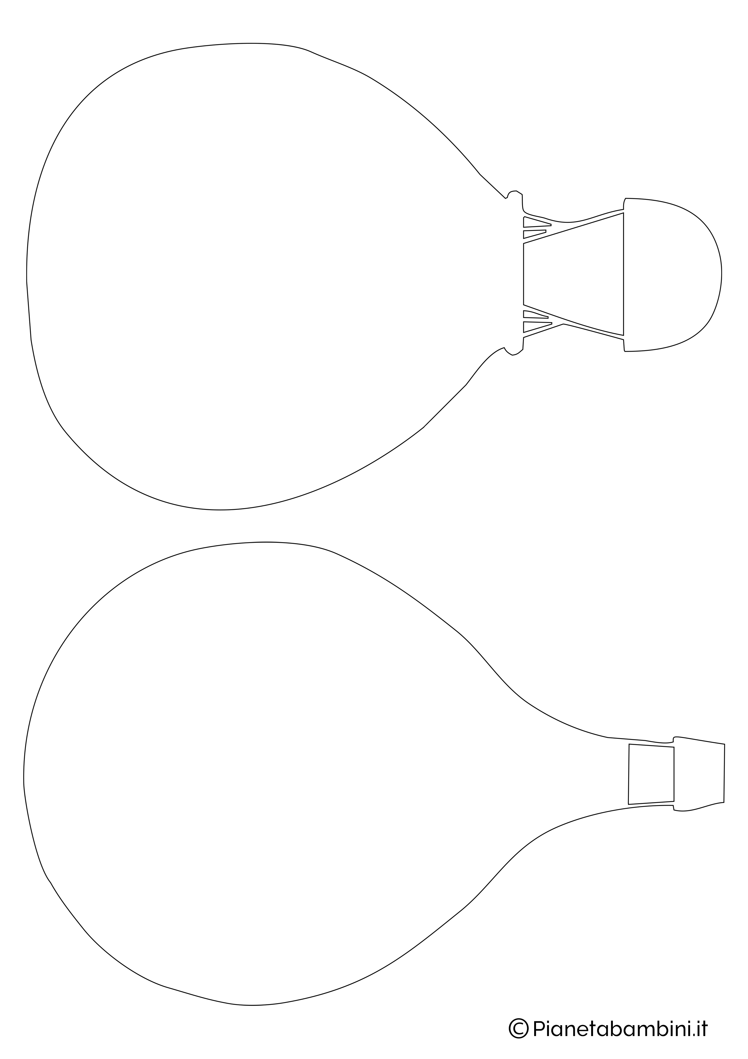 Sagoma di mongolfiera da ritagliare 07