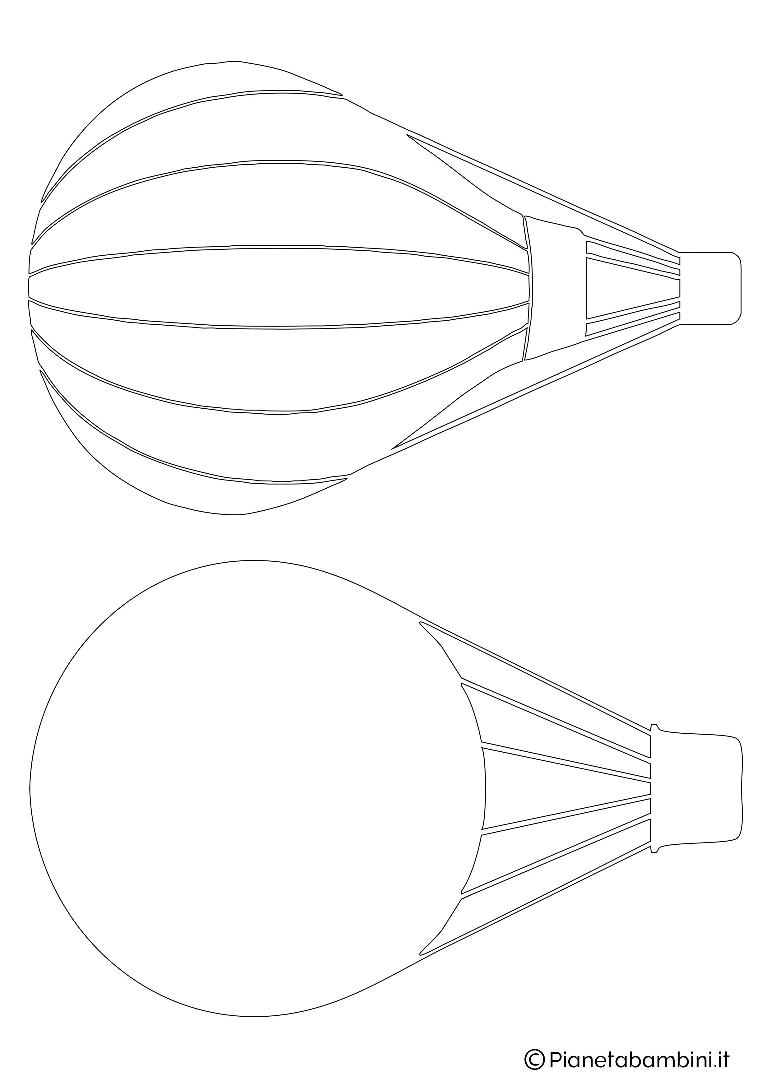 Sagoma di mongolfiera da ritagliare 08