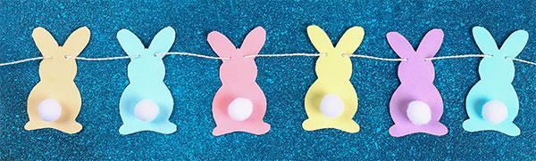 Come unire i coniglietti con lo spago