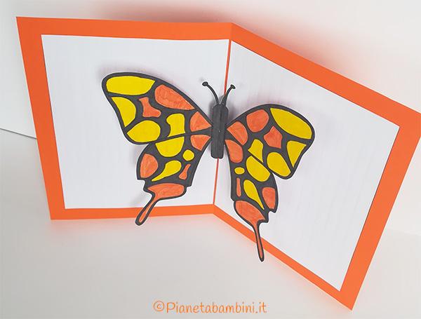 Biglietto con farfalla in versione pop-up