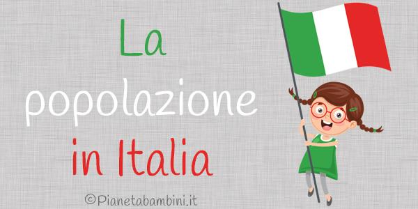 Esercizi sulla popolazione italiana per la scuola primaria