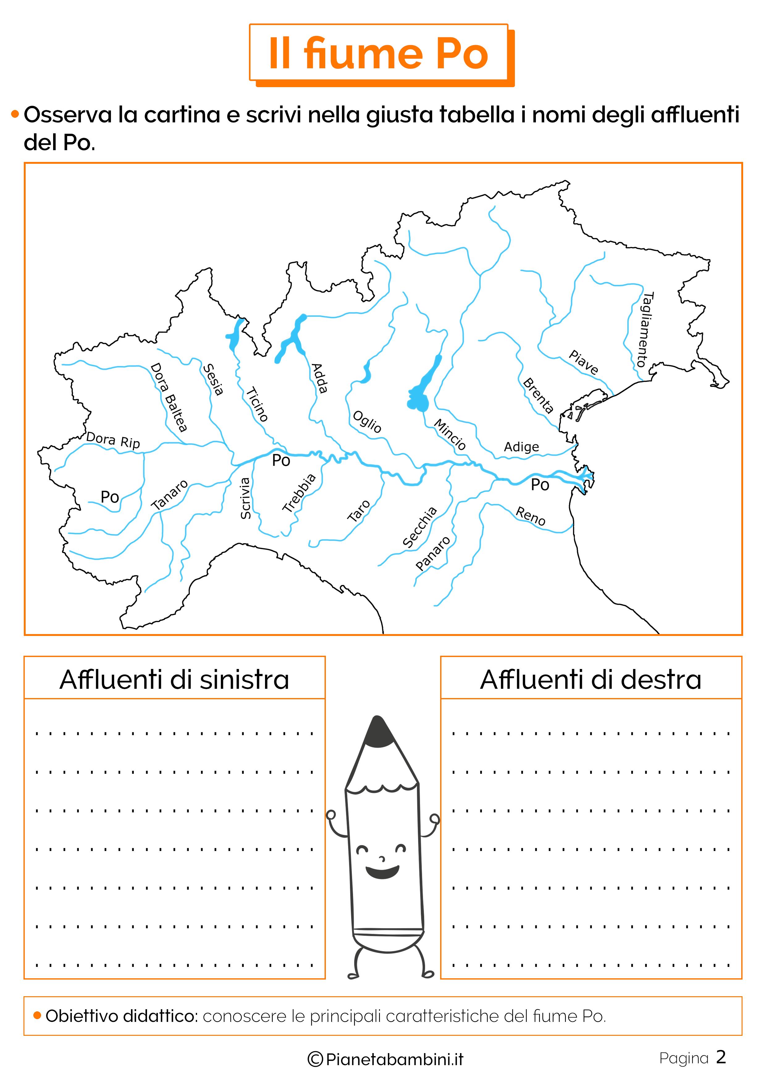 Esercizi sul fiume Po 2