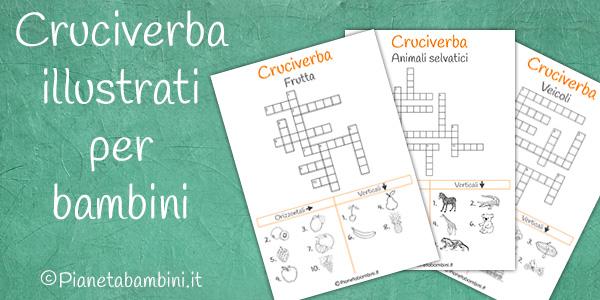 Cruciverba illustrati e soluzioni per bambini