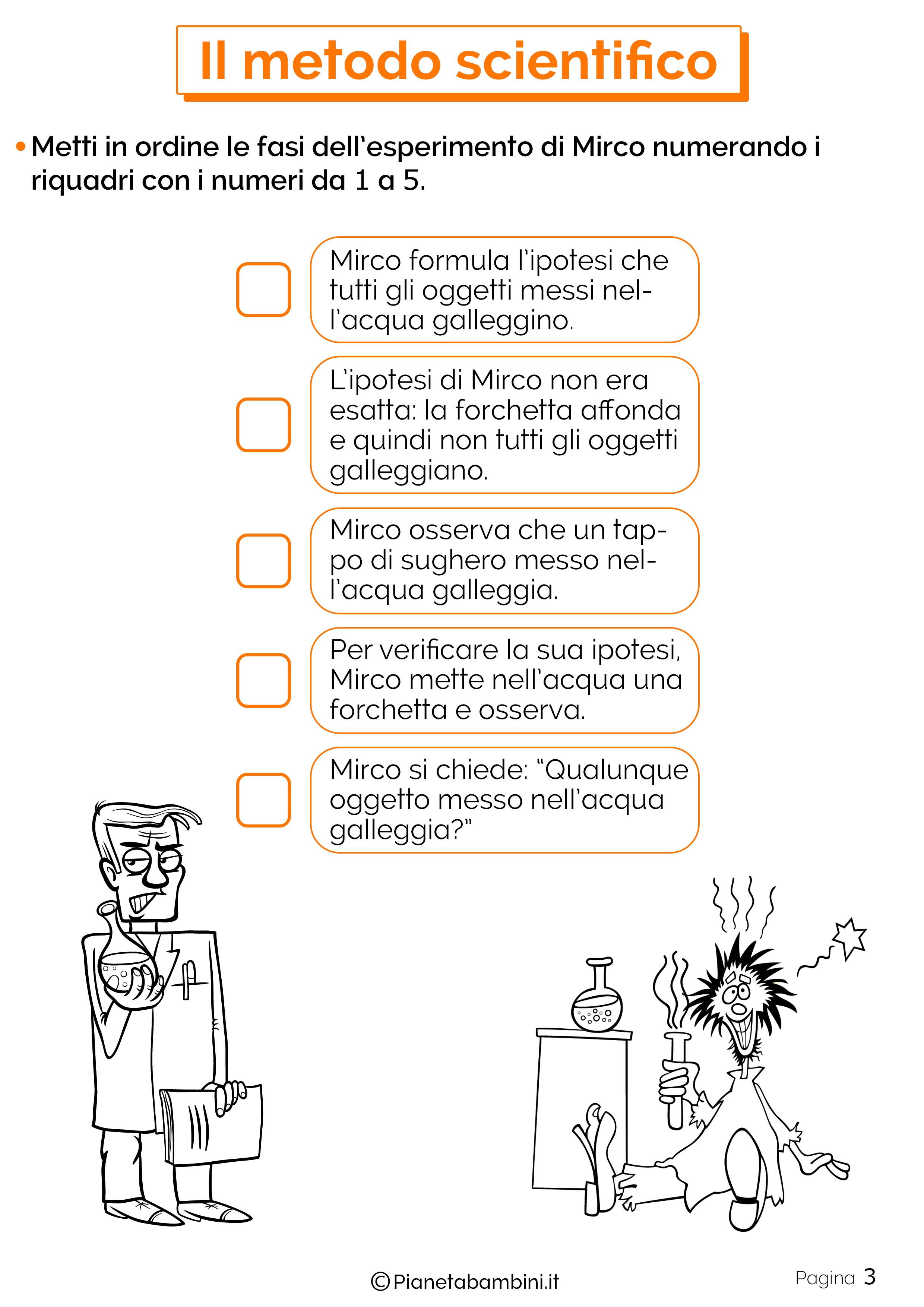 Esercizi sul metodo scientifico 3