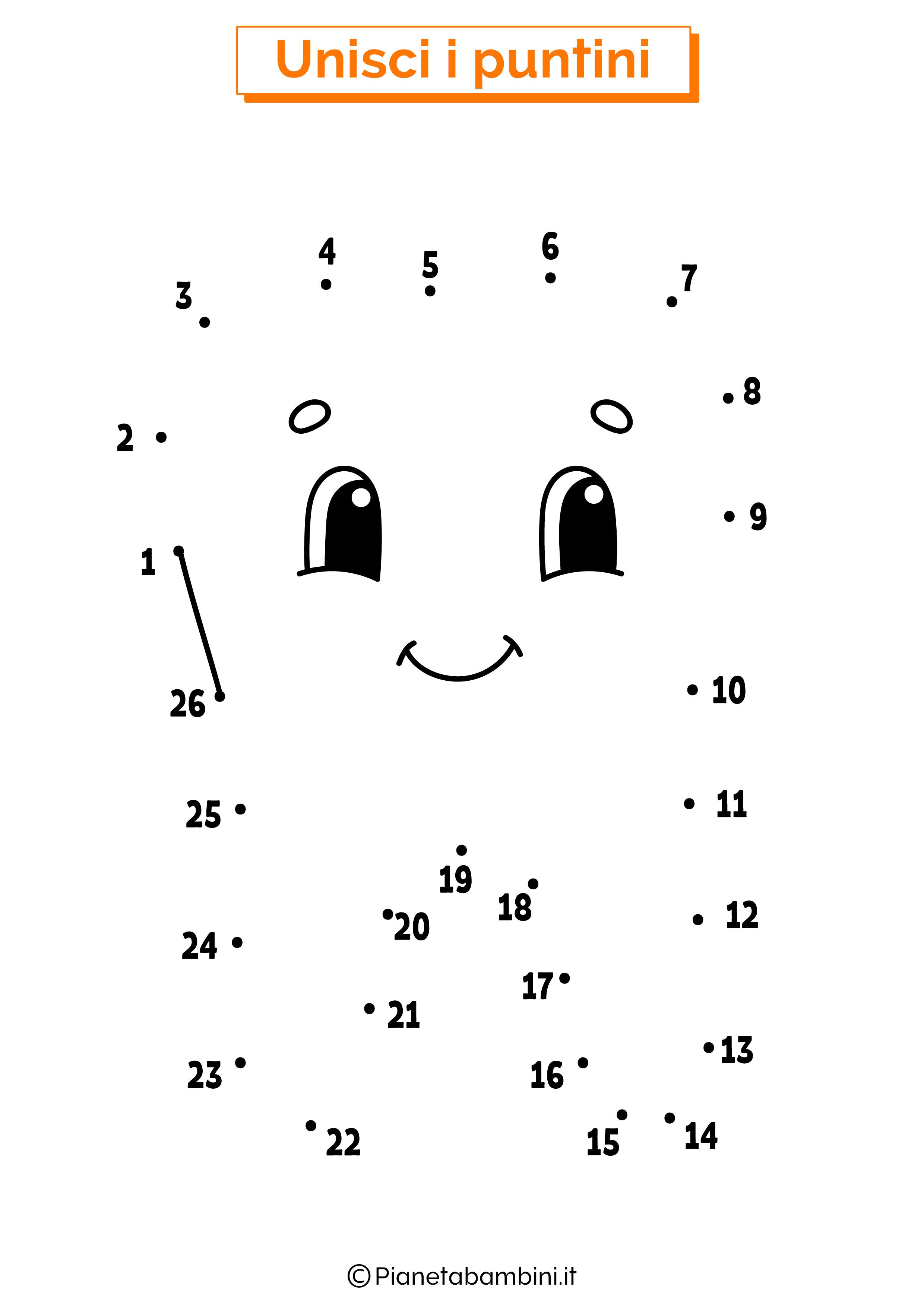 Disegno unisci i puntini dente