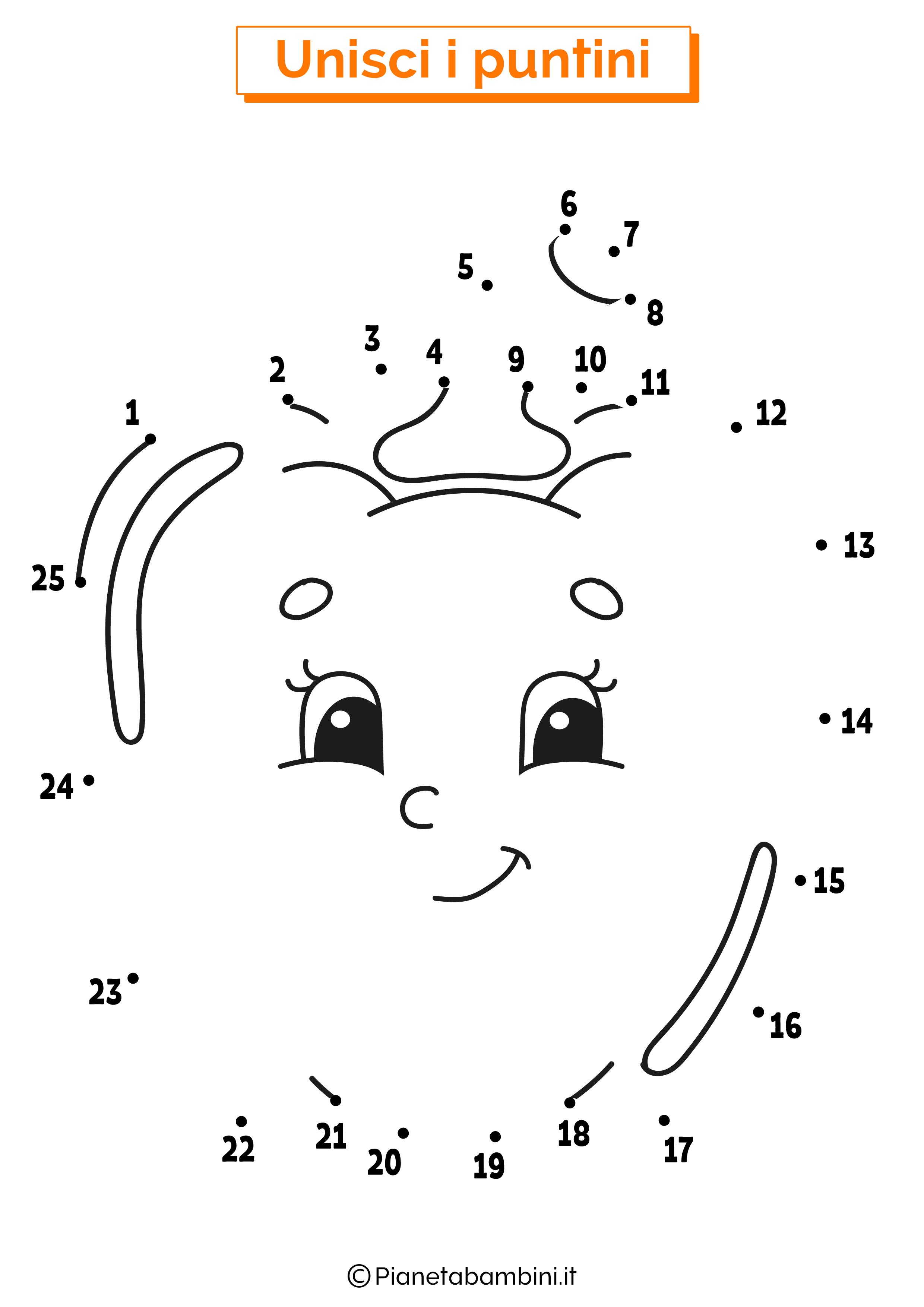 Disegno unisci i puntini peperone