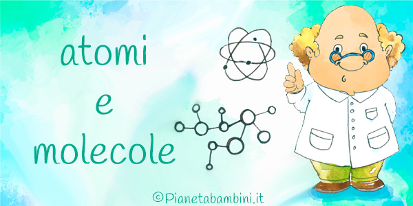 Esercizi su atomi e molecole per bambini da stampare gratis