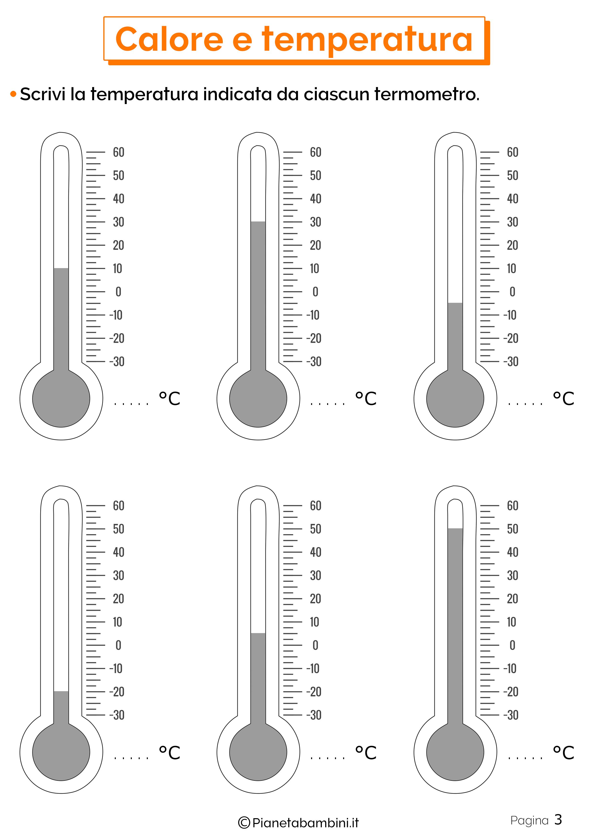 Esercizi su calore e temperatura 3