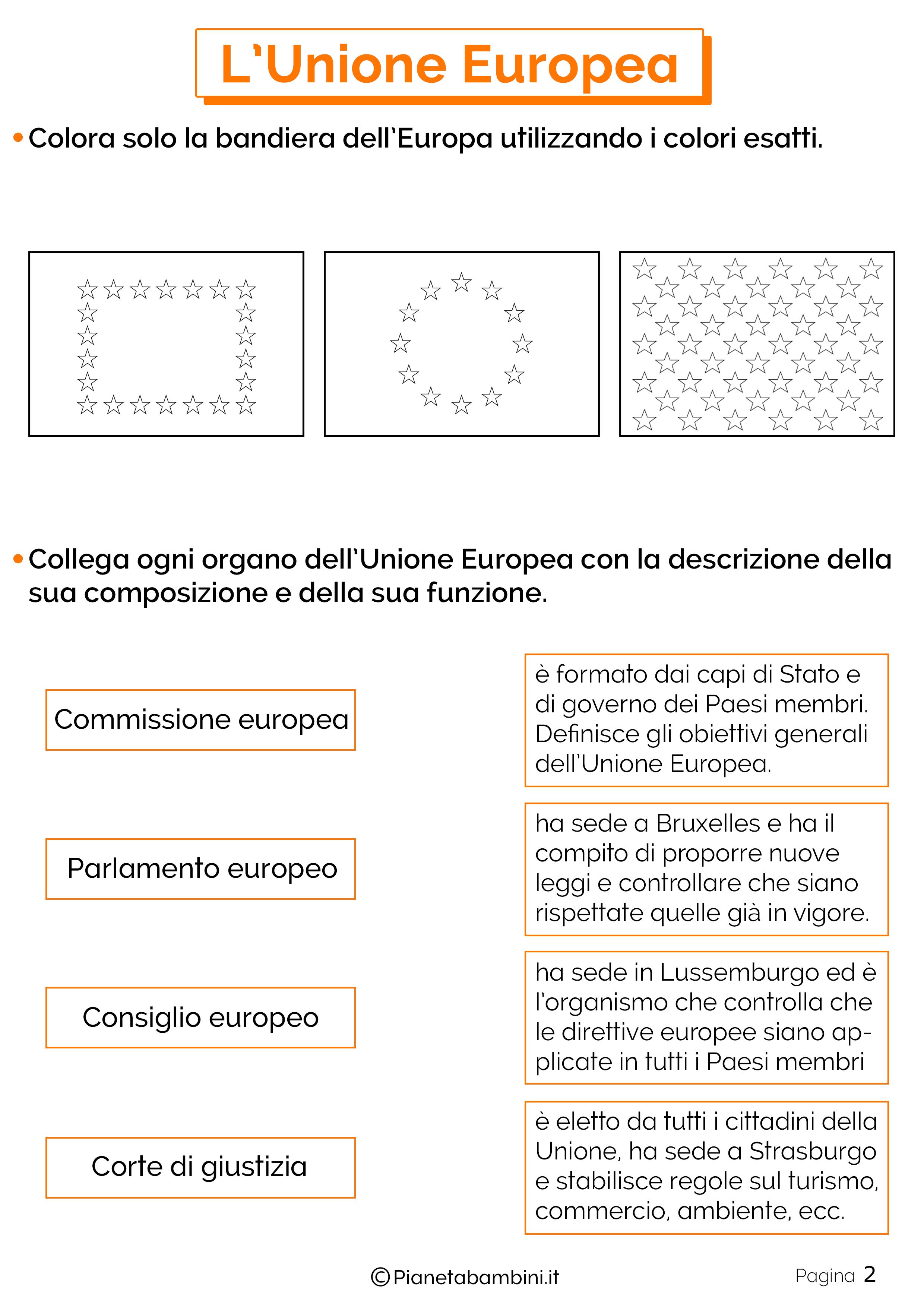 Esercizi sull'Unione Europea 2