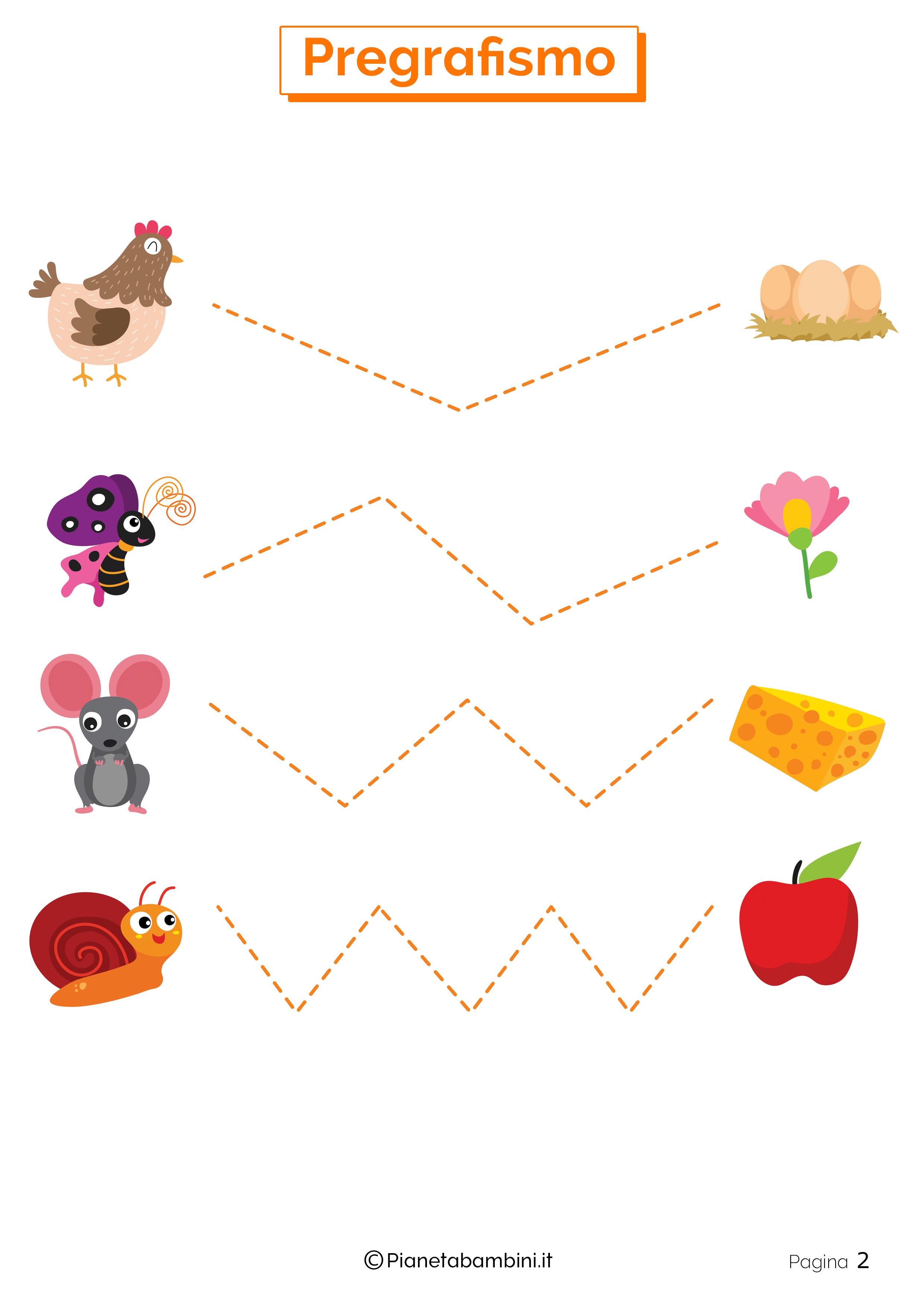 Esercizi di pregrafismo per la scuola dell'infanzia 02