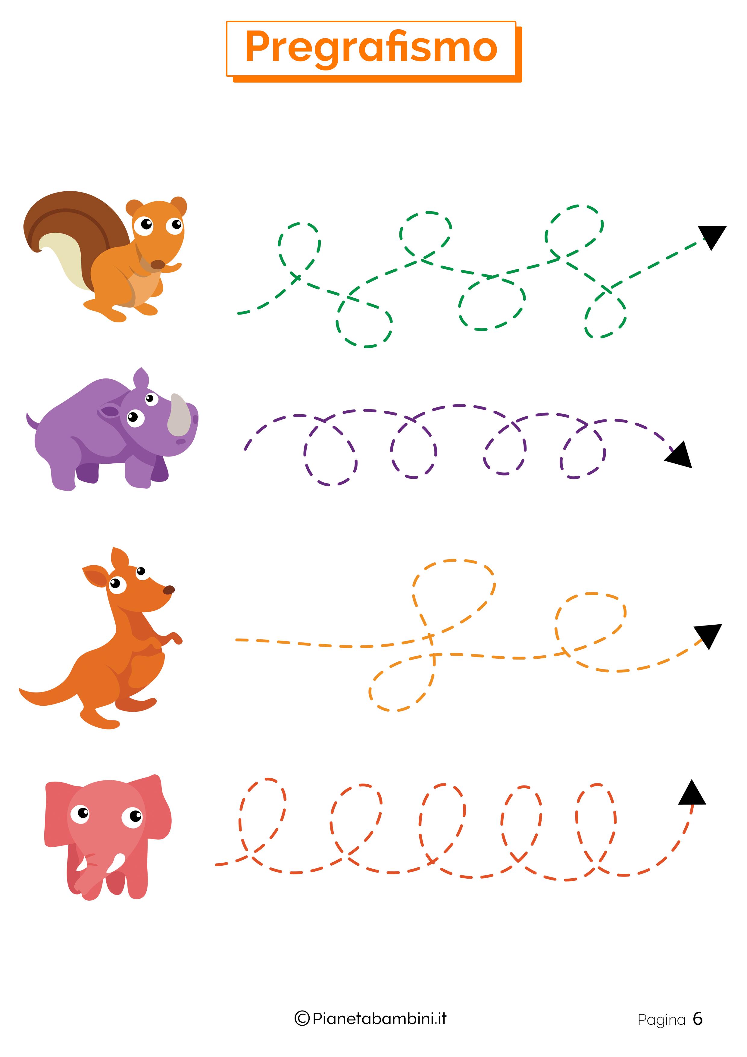 Esercizi di pregrafismo per la scuola dell'infanzia 06
