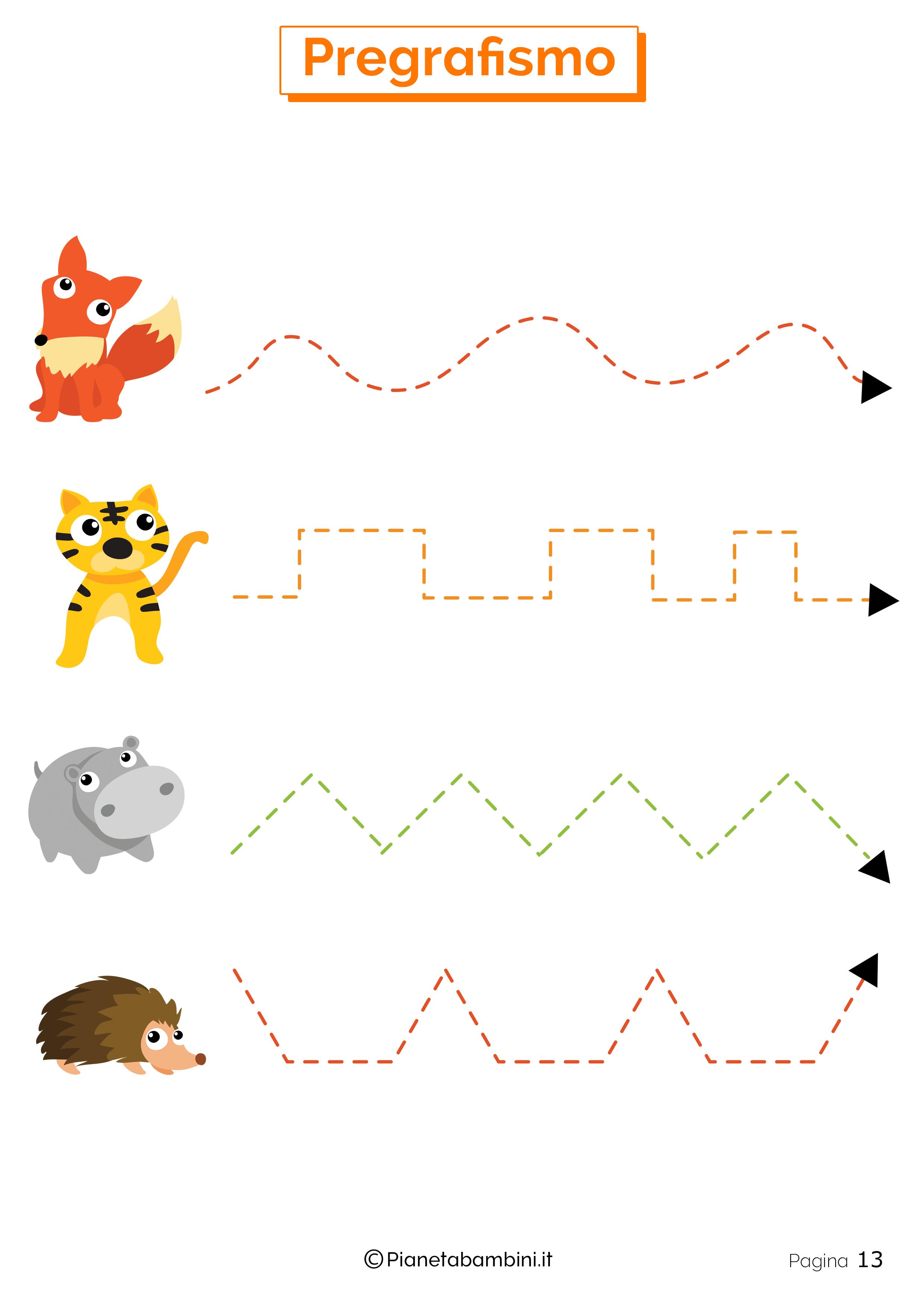 Esercizi di pregrafismo per la scuola dell'infanzia 13