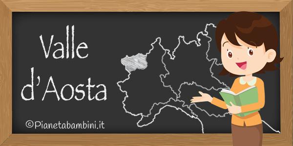 Esercizi sulla Valle d'Aosta da stampare per bambini