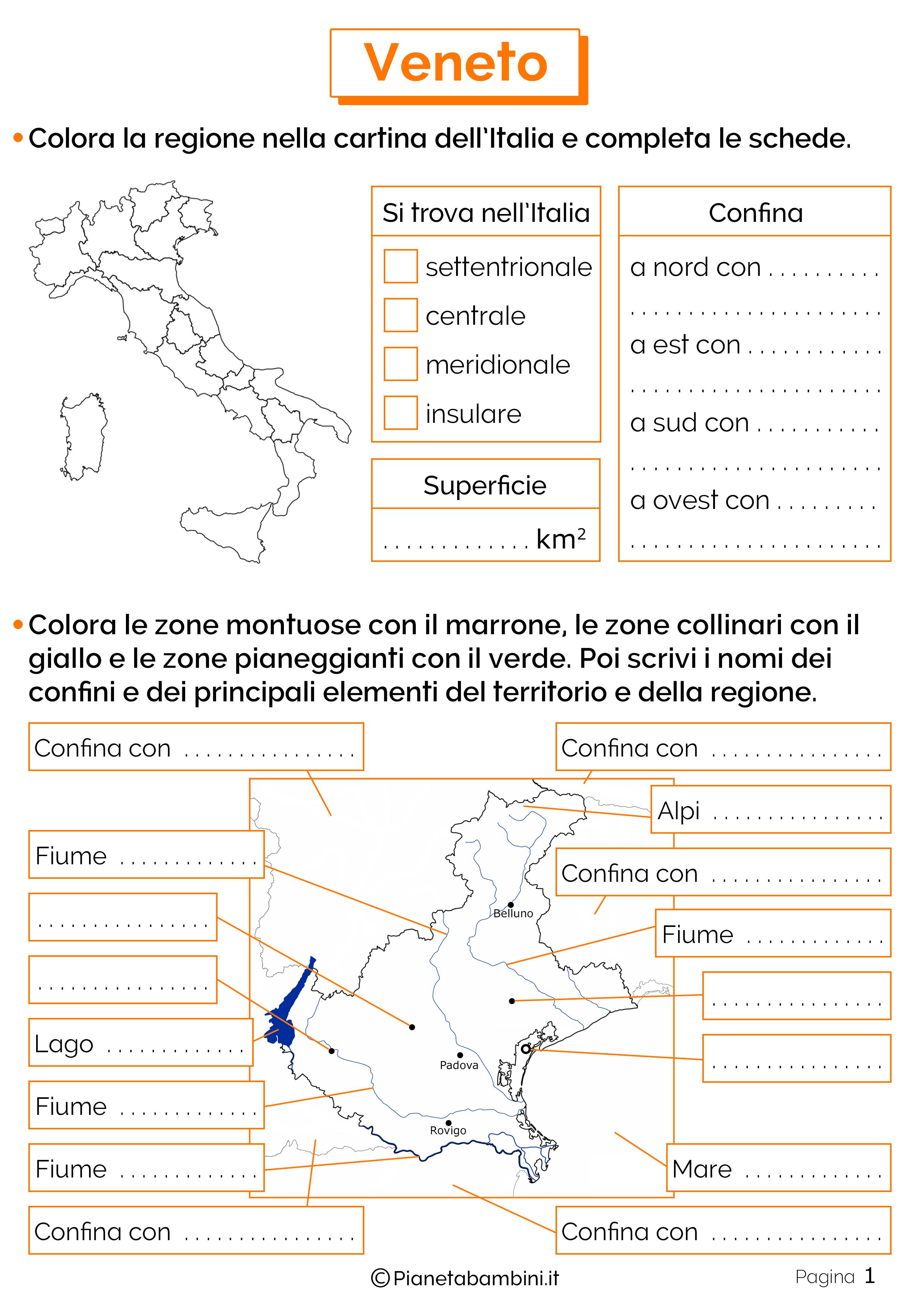 Esercizi sul Veneto 1