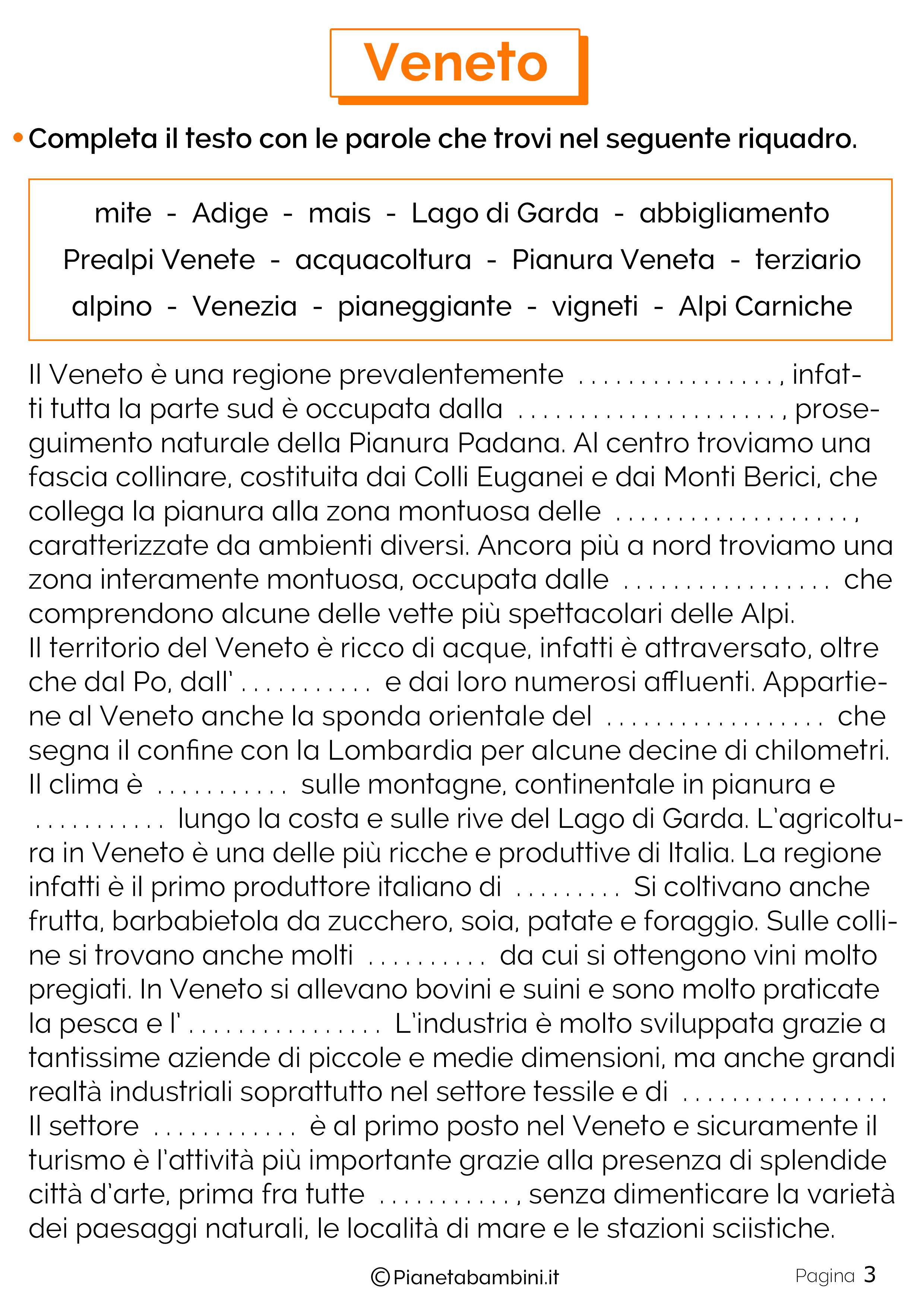 Esercizi sul Veneto 3