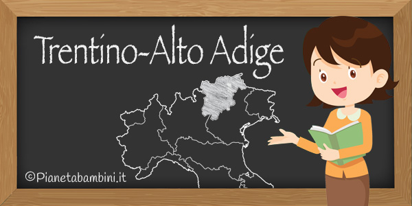 Esercizi sul Trentino-Alto Adige per la scuola primaria