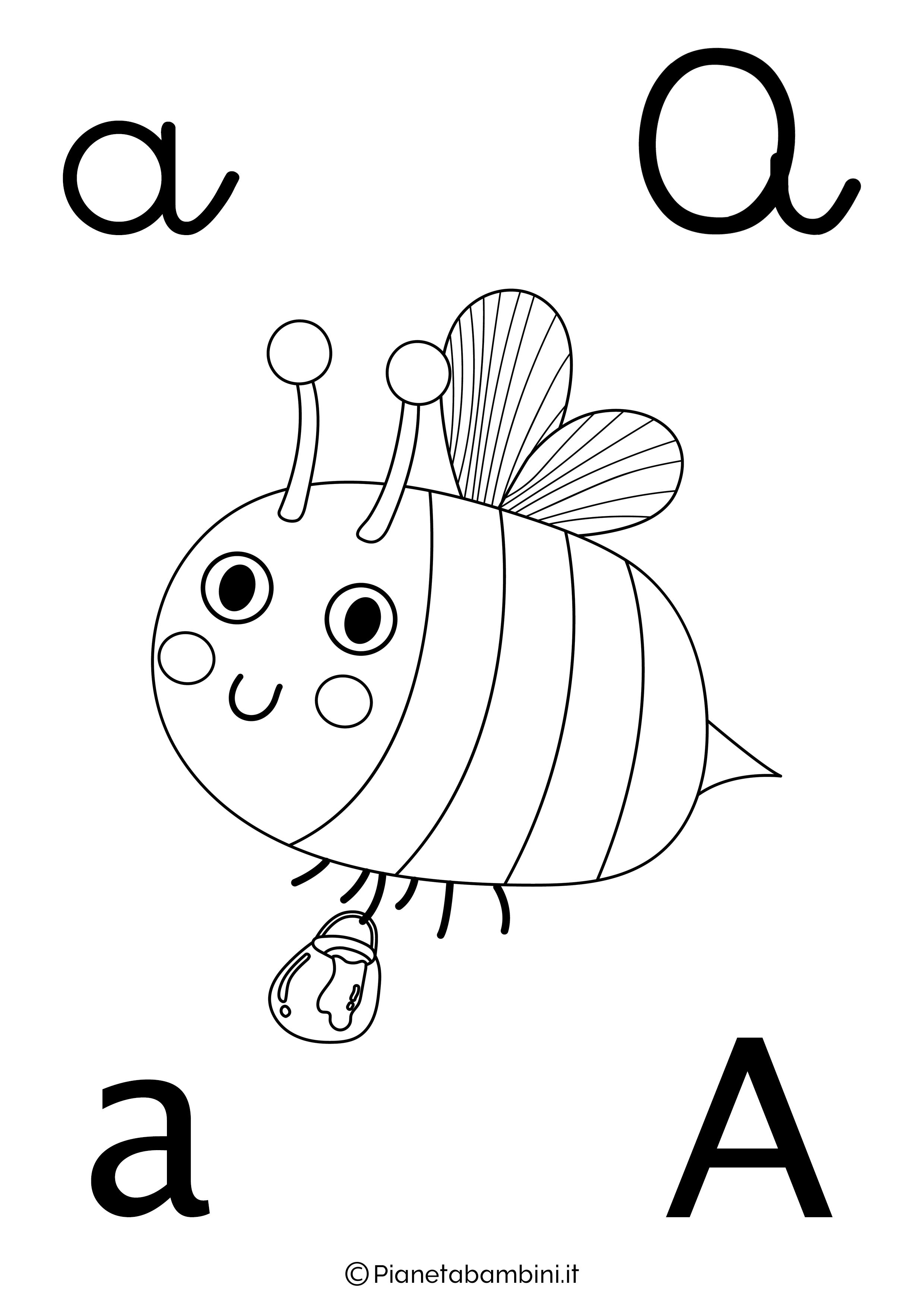 Lettere Alfabeto Da Copiare alfabetiere da colorare | pianetabambini.it