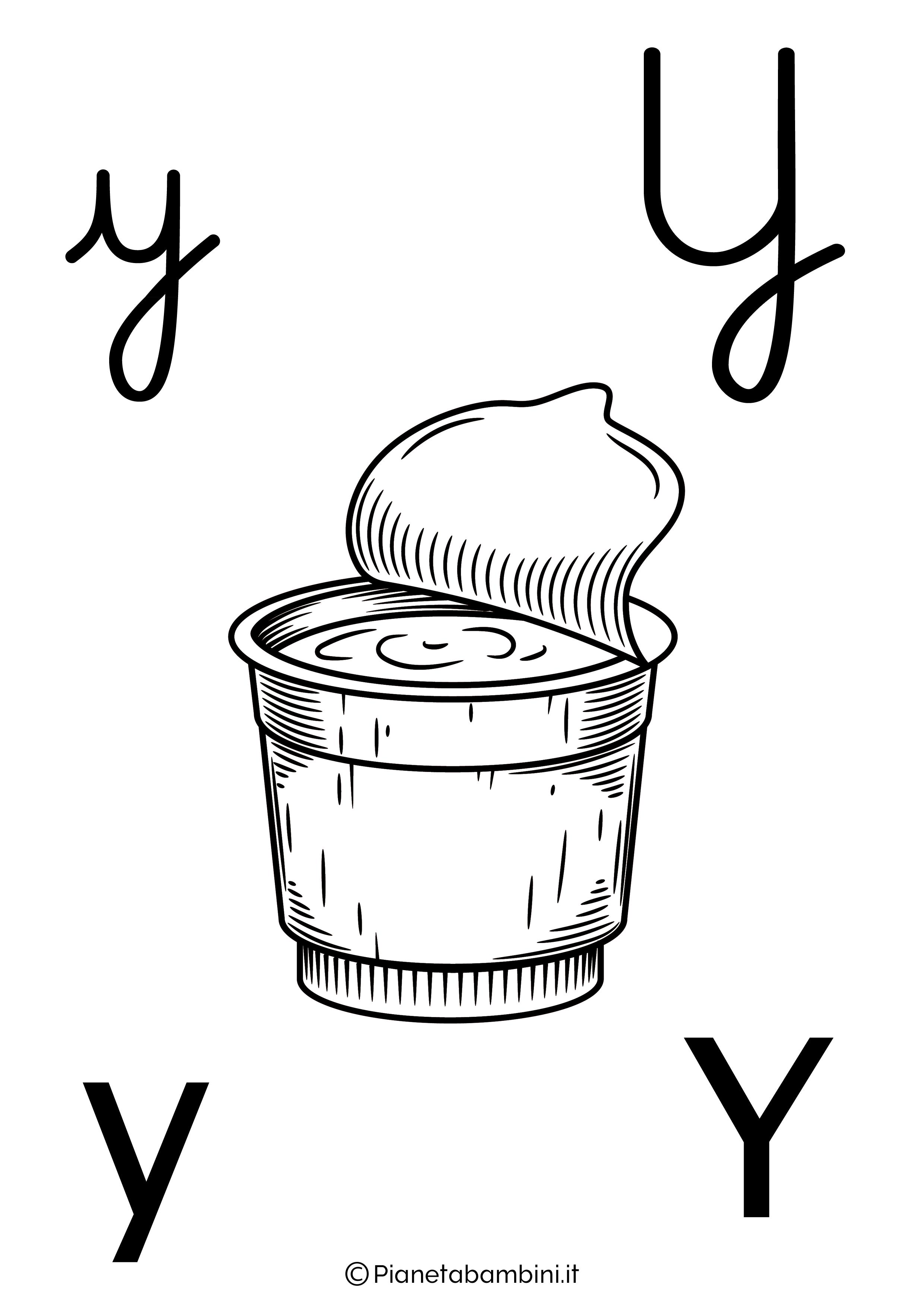 Alfabetiere lettera Y da colorare