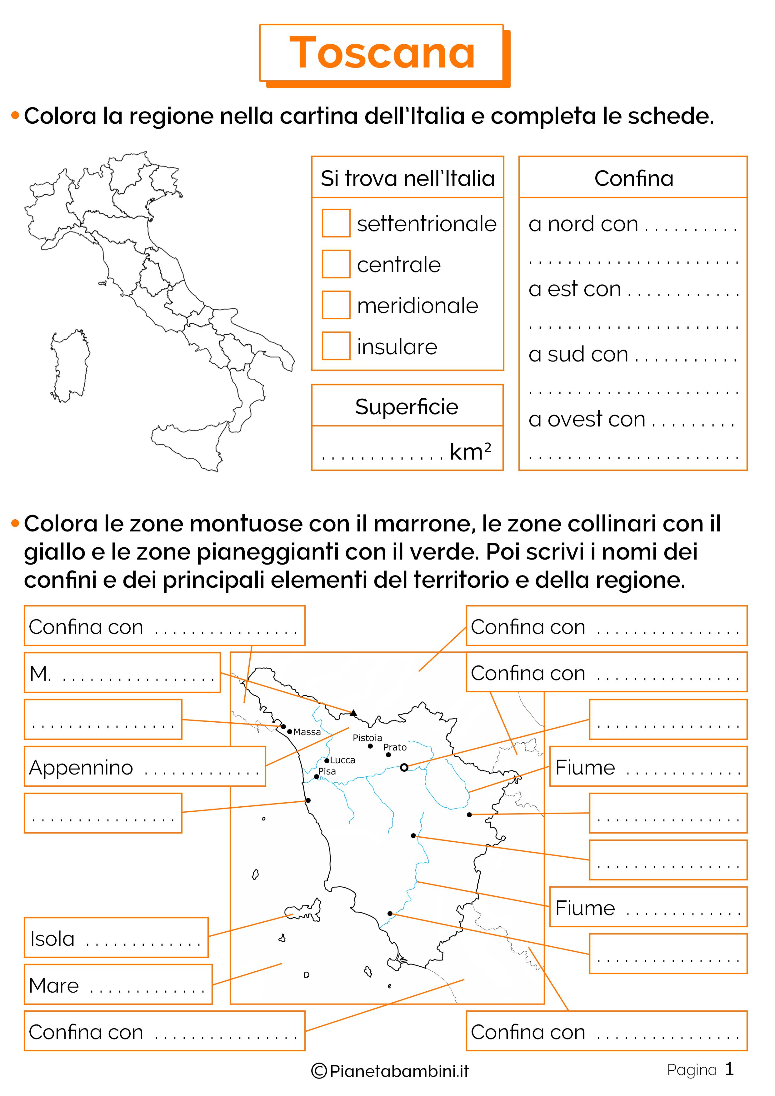 Esercizi sulla Toscana 1