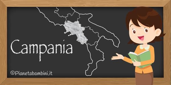 Esercizi sulla regione Campania da stampare gratis