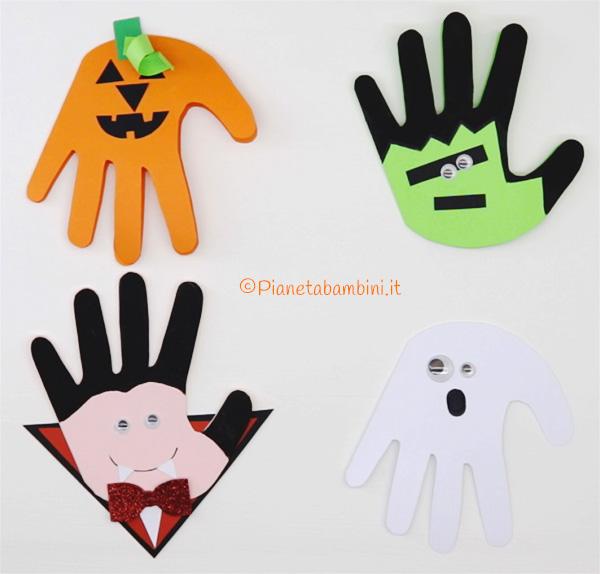 Come creare dei biglietti di Halloween con impronta della mano