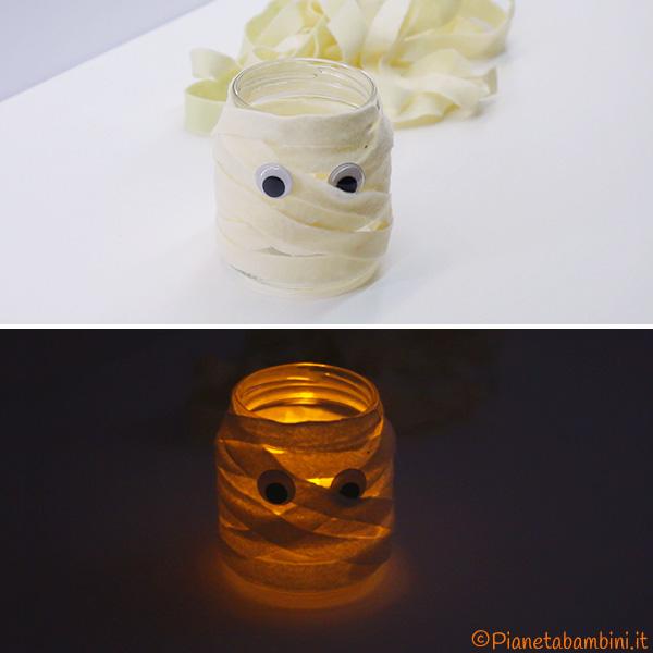 Lanterna di Halloween a forma di mummia