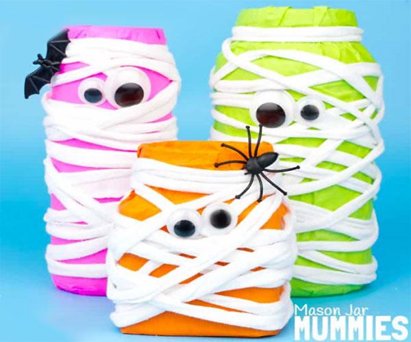 Come creare delle mummie con barattoli di vetro