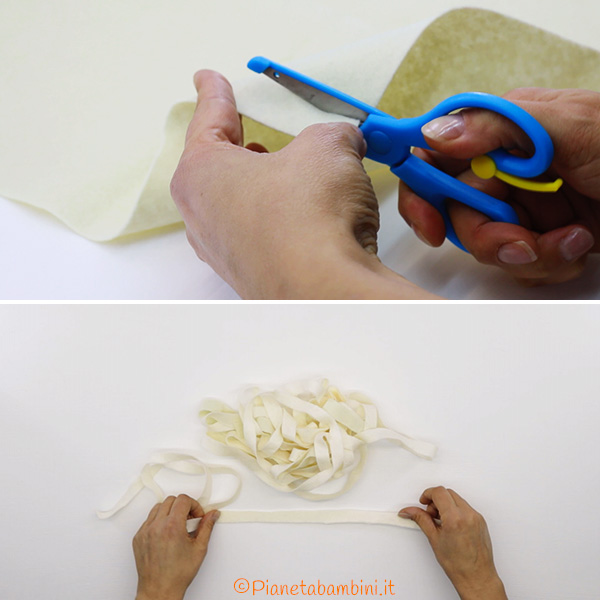 Come ritagliare il pannolenci per creare la lanterna mummia