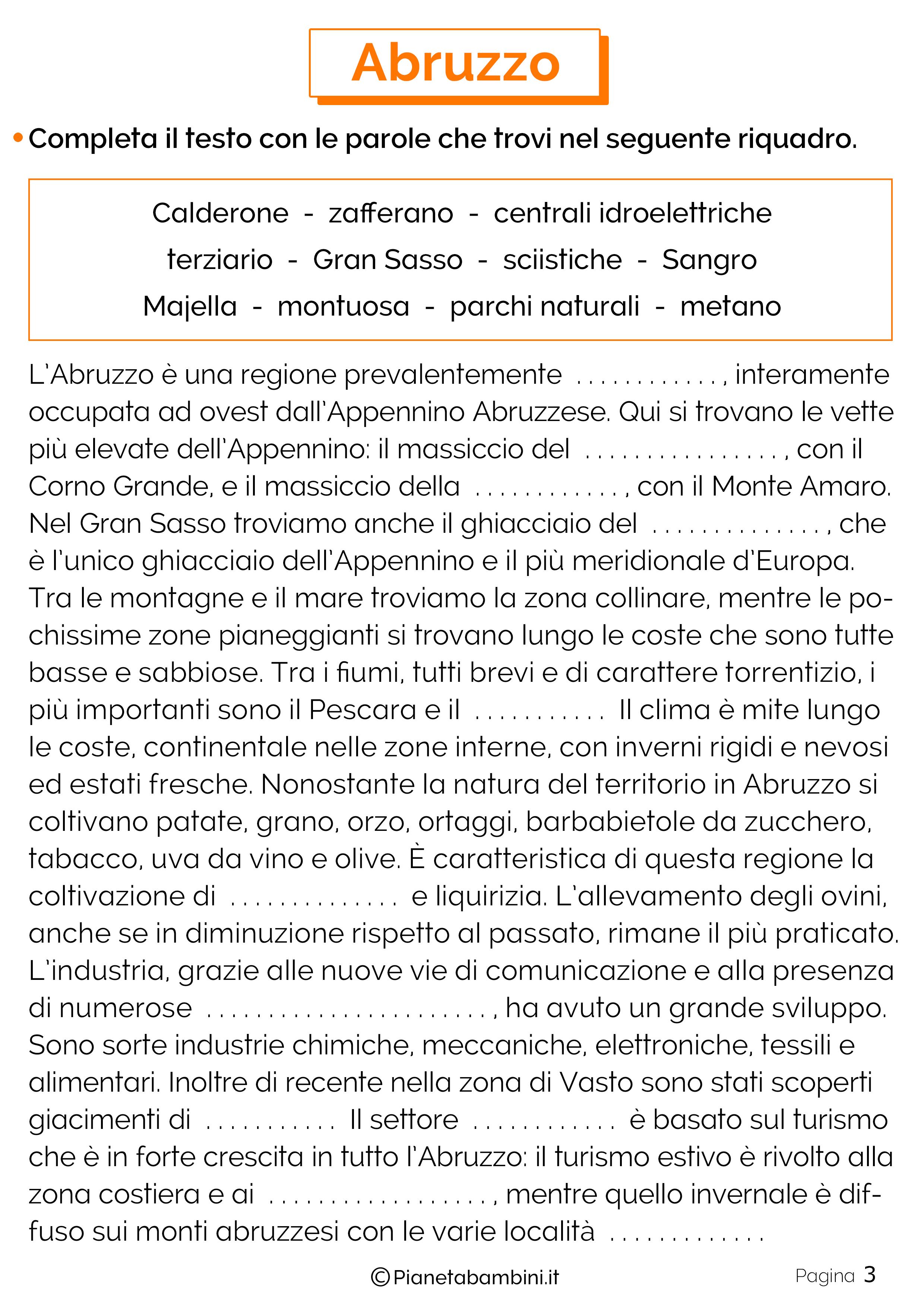 Esercizi sull'Abruzzo 3