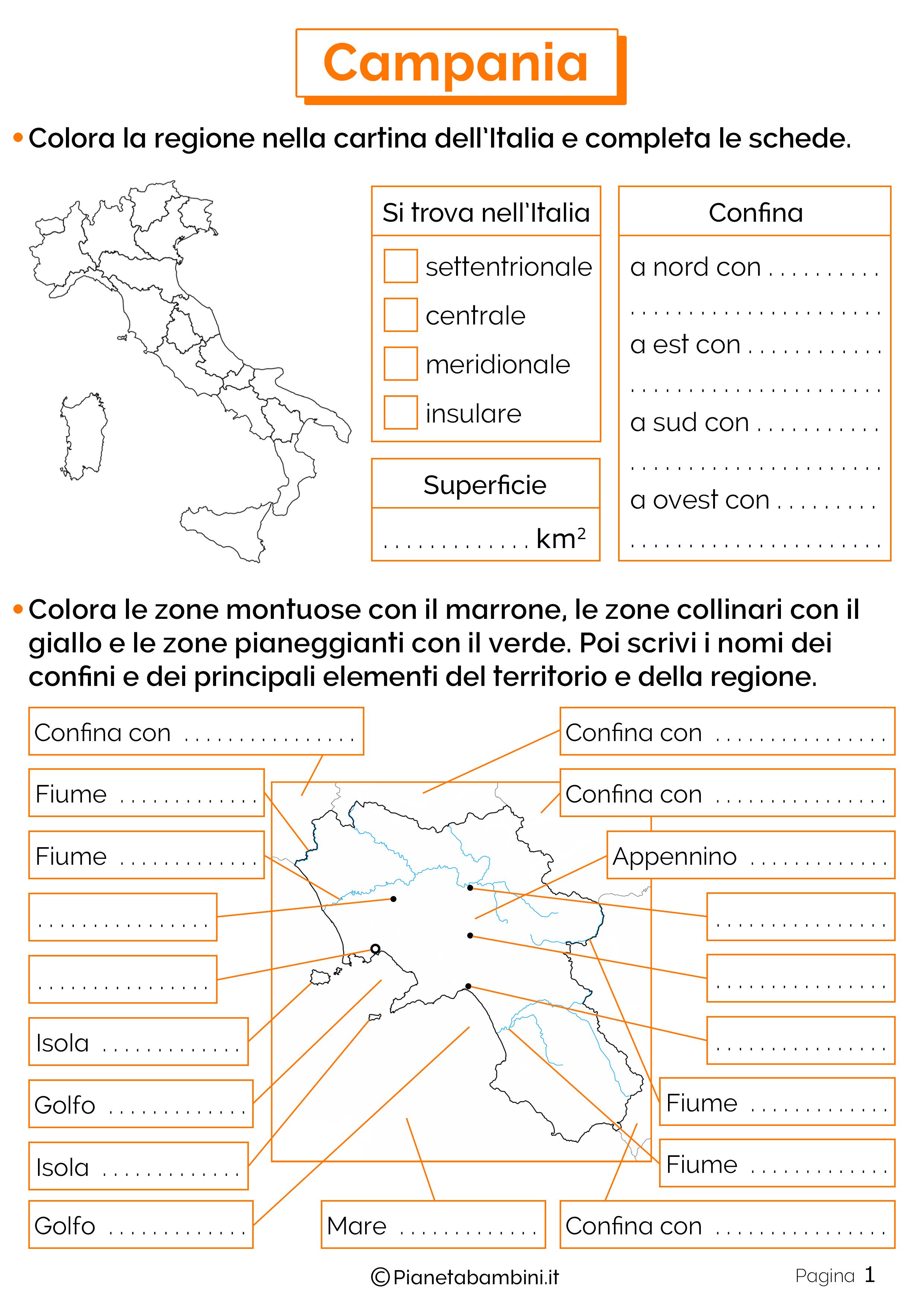 Esercizi sulla Campania 1