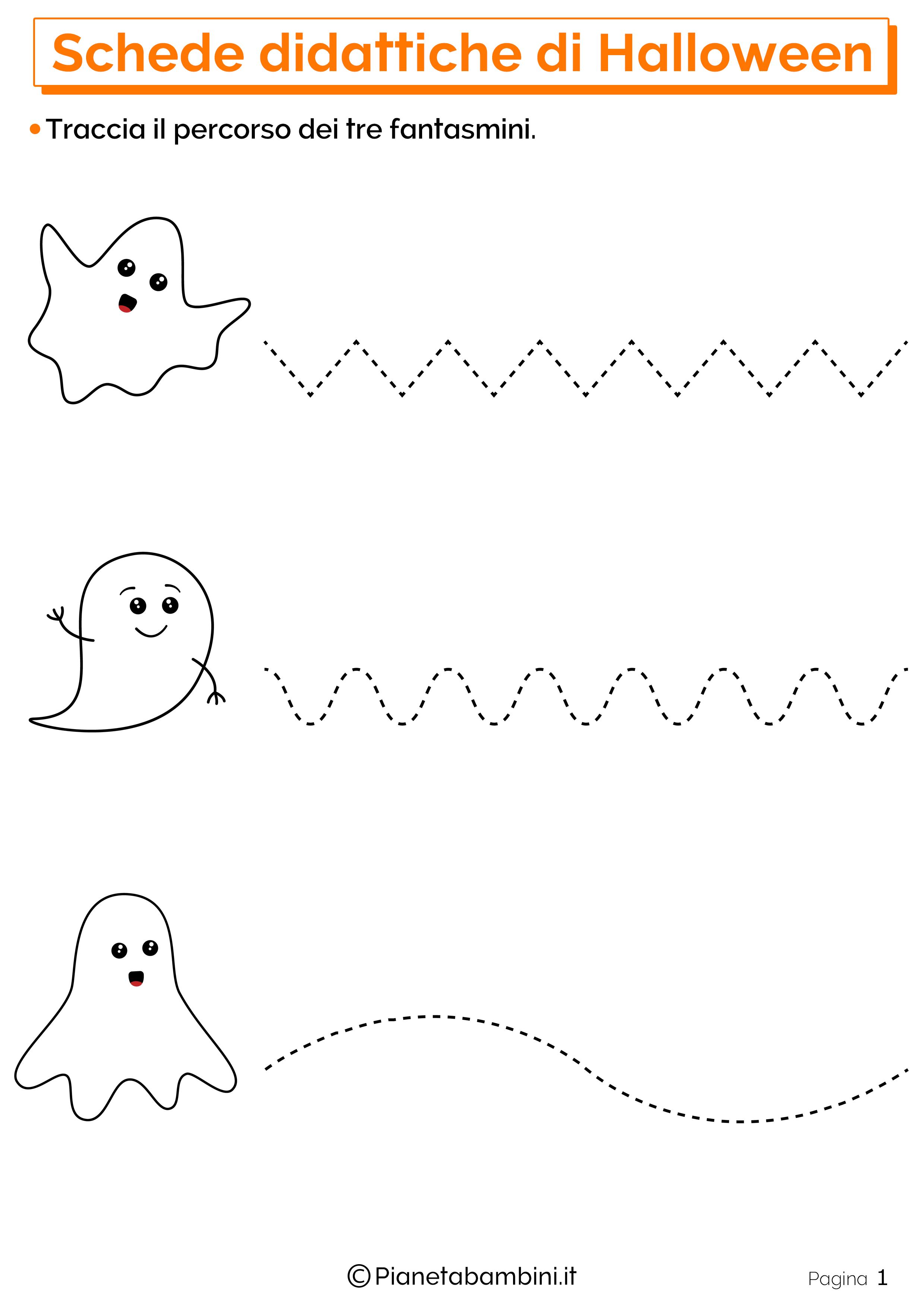 Esercizi di Halloween per la scuola dell'Infanzia 01