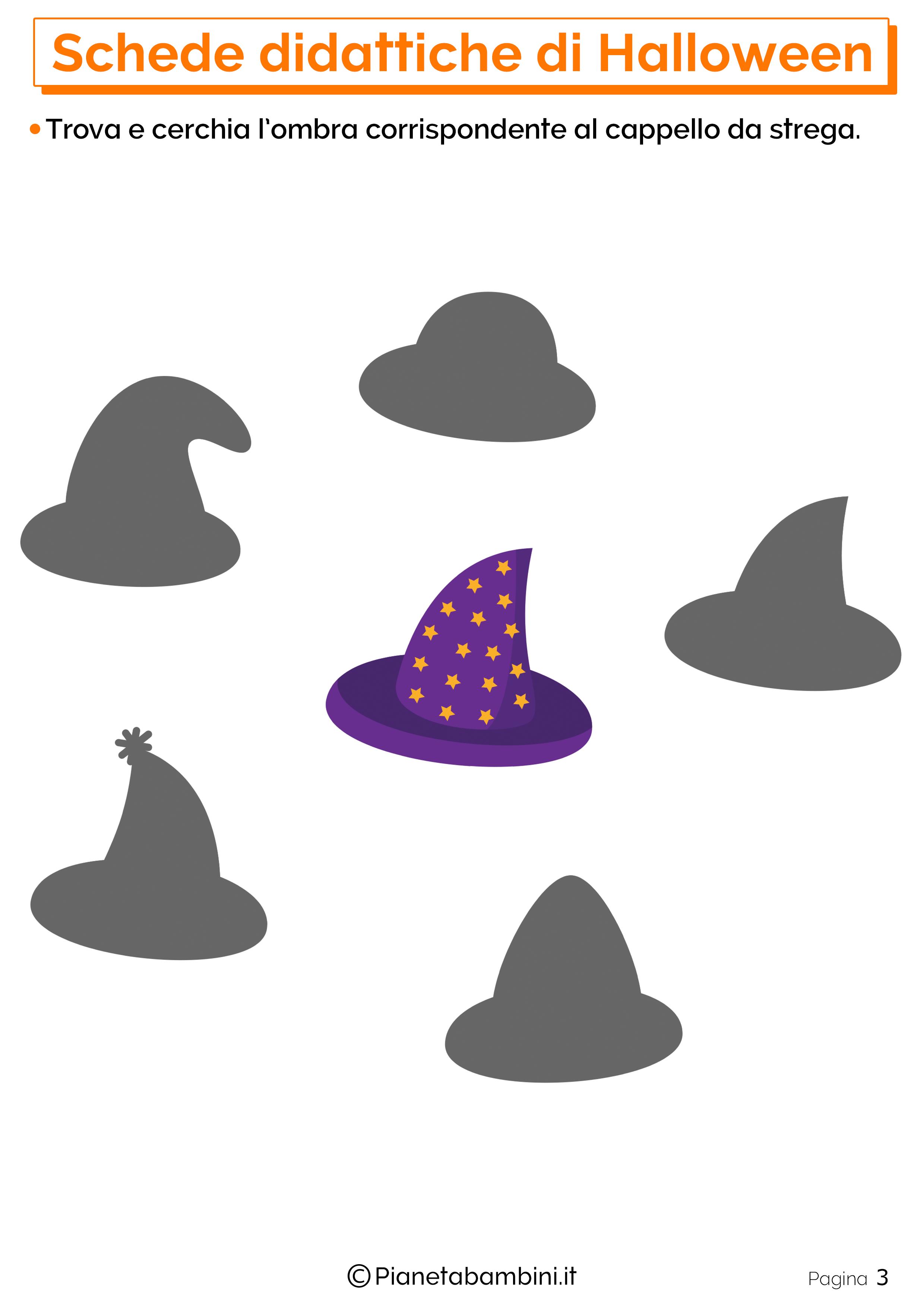 Esercizi di Halloween per la scuola dell'Infanzia 03